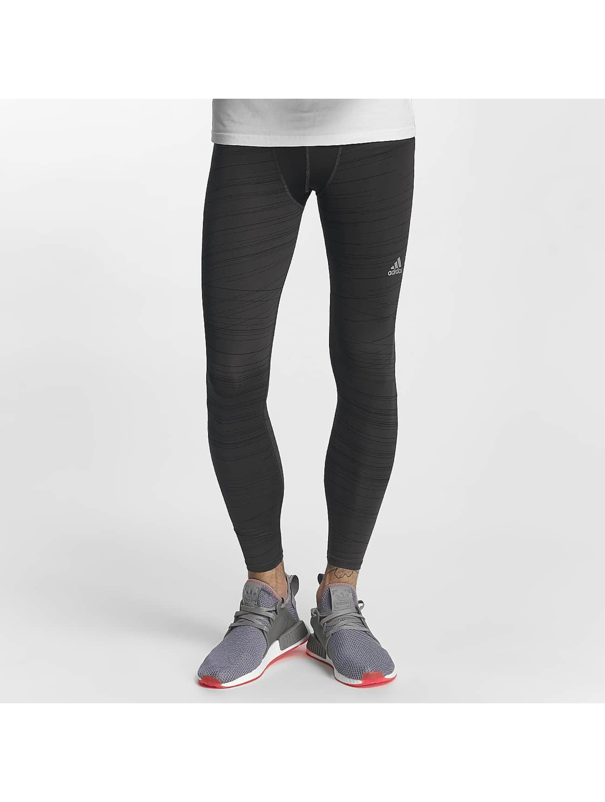 adidas Performance Männer Legging Techfit Long Print Tights in schwarz
