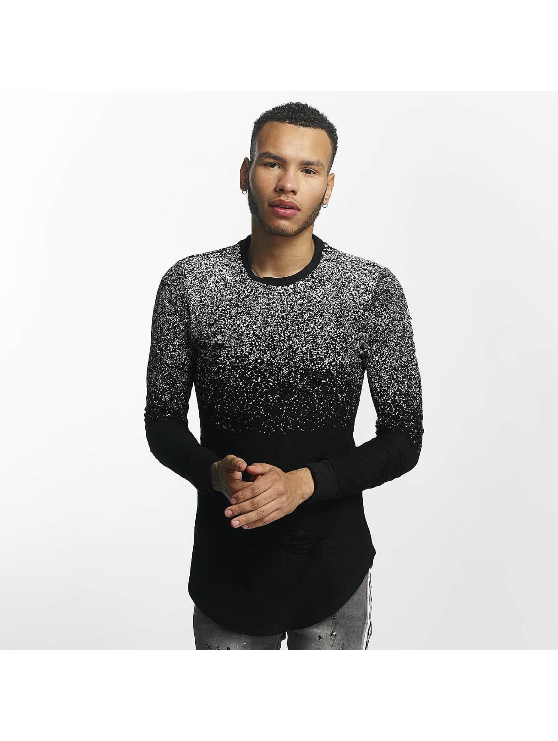 John H Männer Pullover Dots in schwarz
