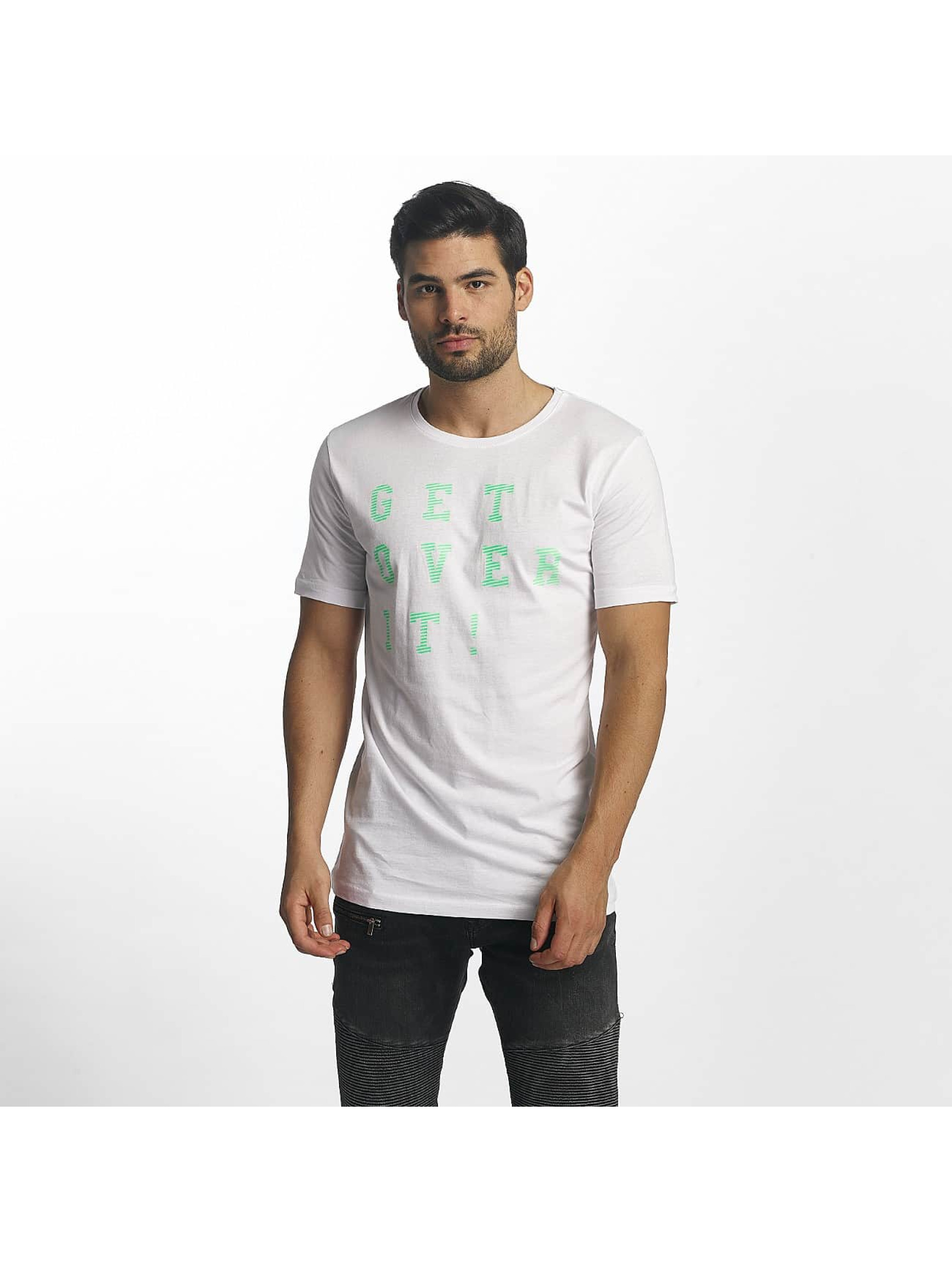 Paris Premium Männer T-Shirt Get Over It in weiß