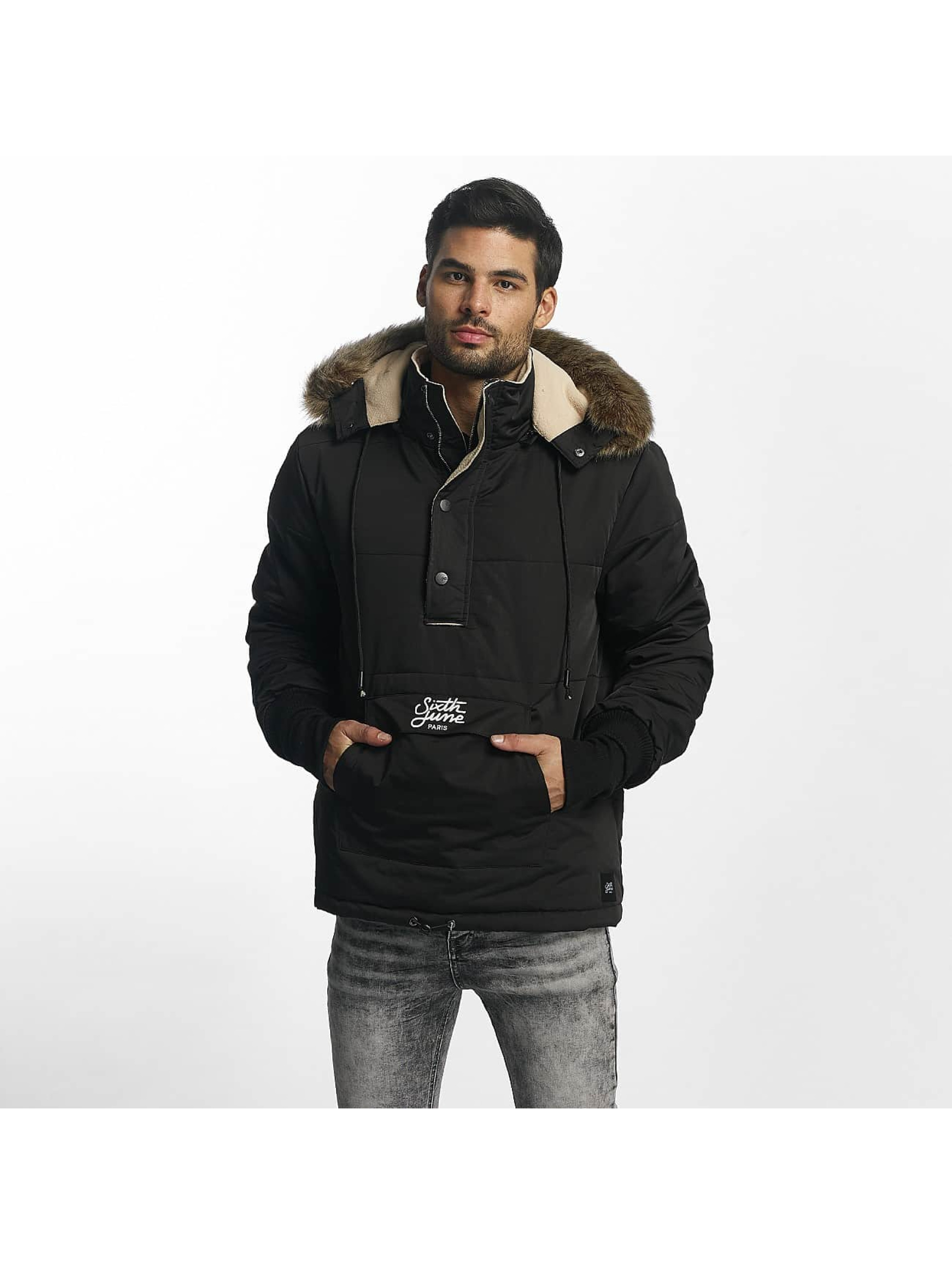 Sixth June Männer Winterjacke Classic Oversized Rain in schwarz