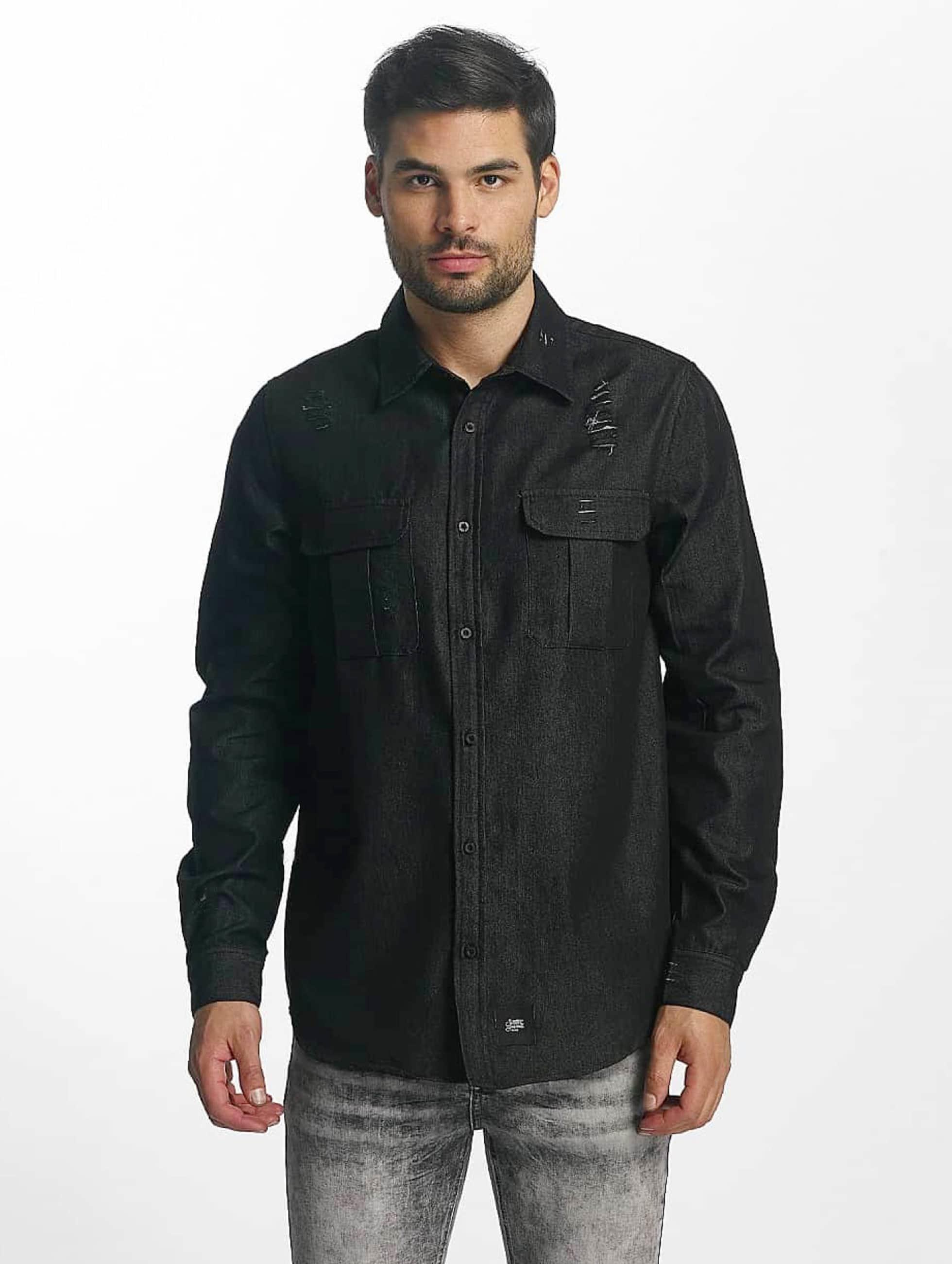 Sixth June Männer Hemd Chemise in schwarz