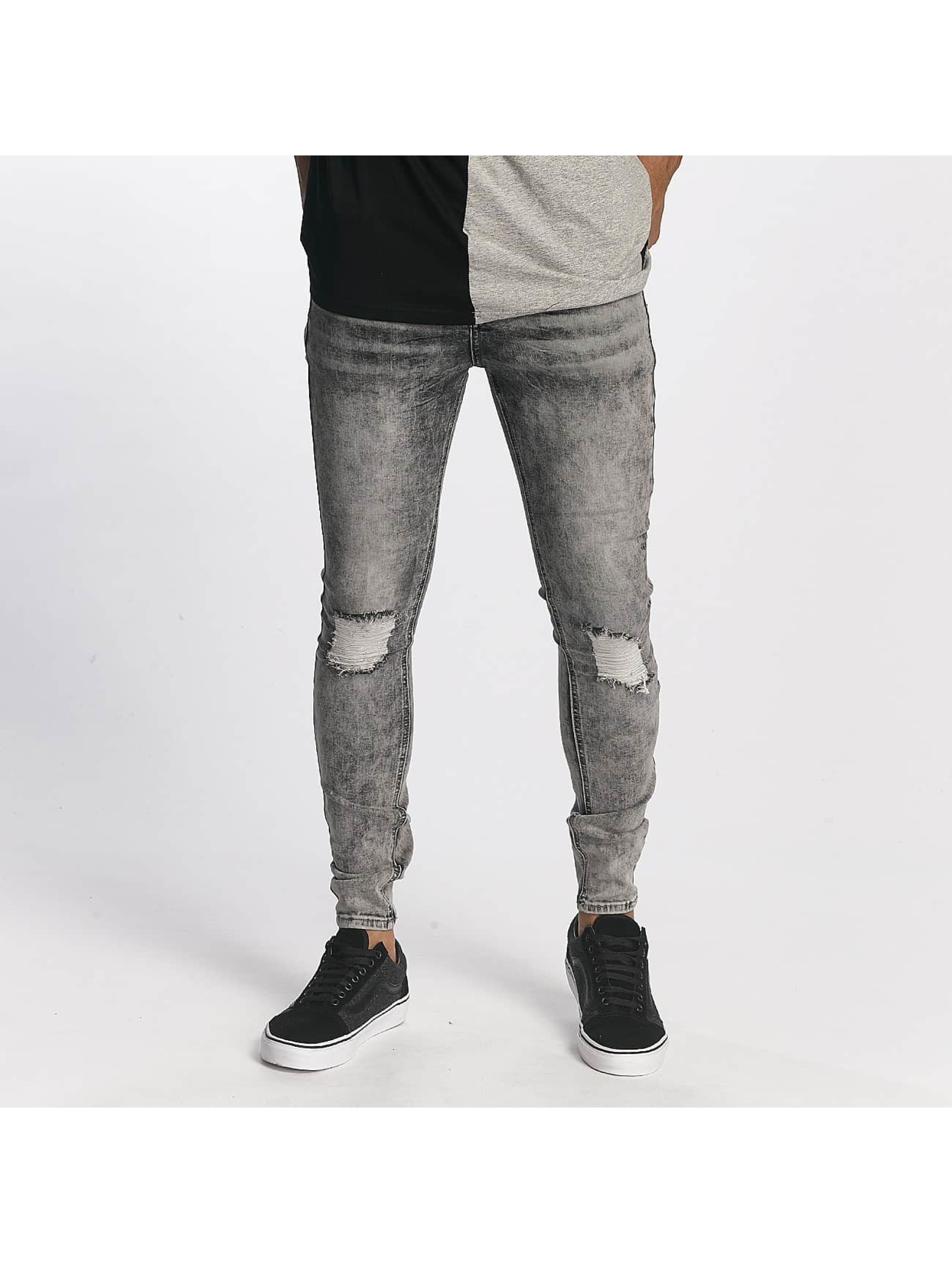 Sixth June Männer Slim Fit Jeans Classic Slimfit in grau