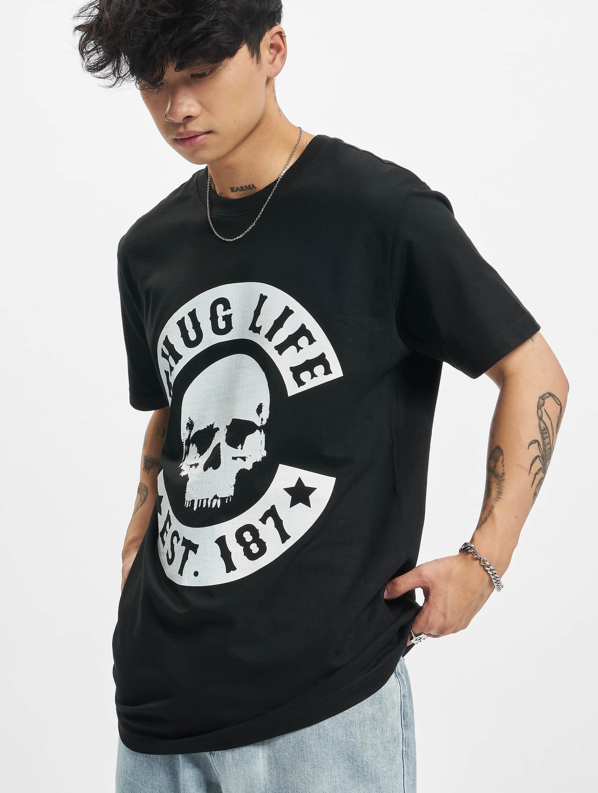 Thug Life / T-Shirt B.Skull in black 5XL