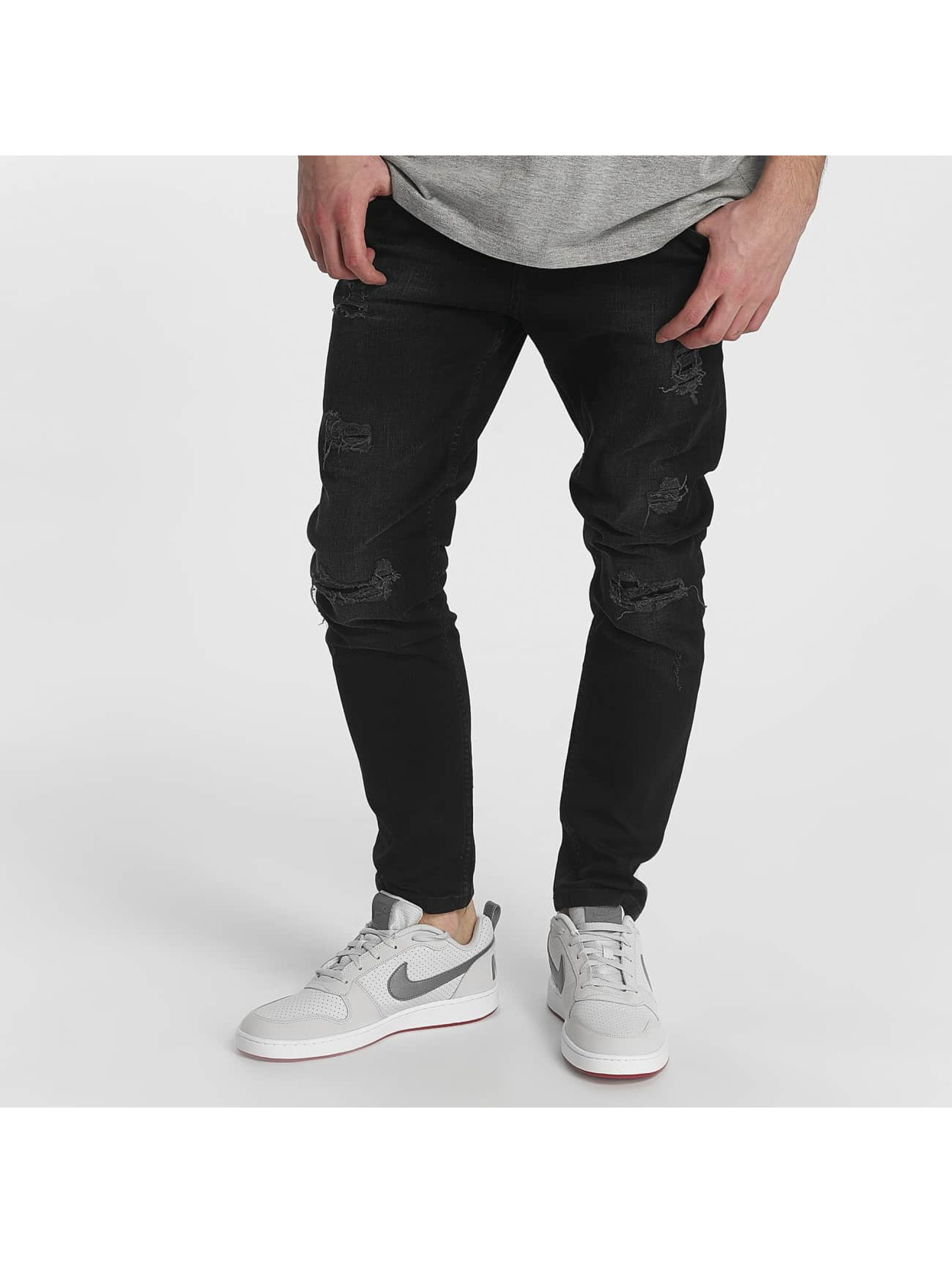 Just Rhyse / Straight Fit Jeans Destroyed in black W 32