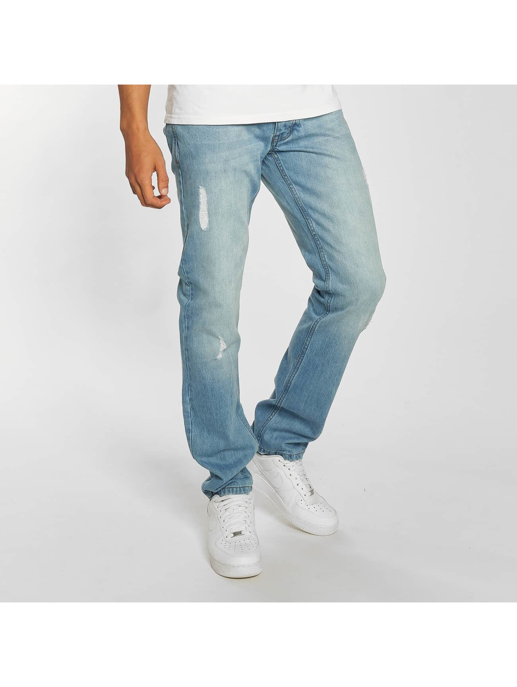 Rocawear / Straight Fit Jeans Moletro Leather Patch in blue W 42