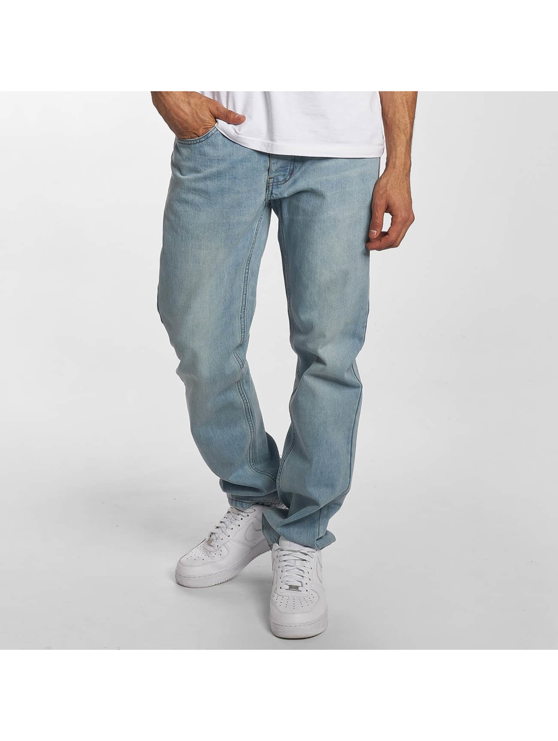 Rocawear / Straight Fit Jeans Moletro Leather Patch in blue W 46