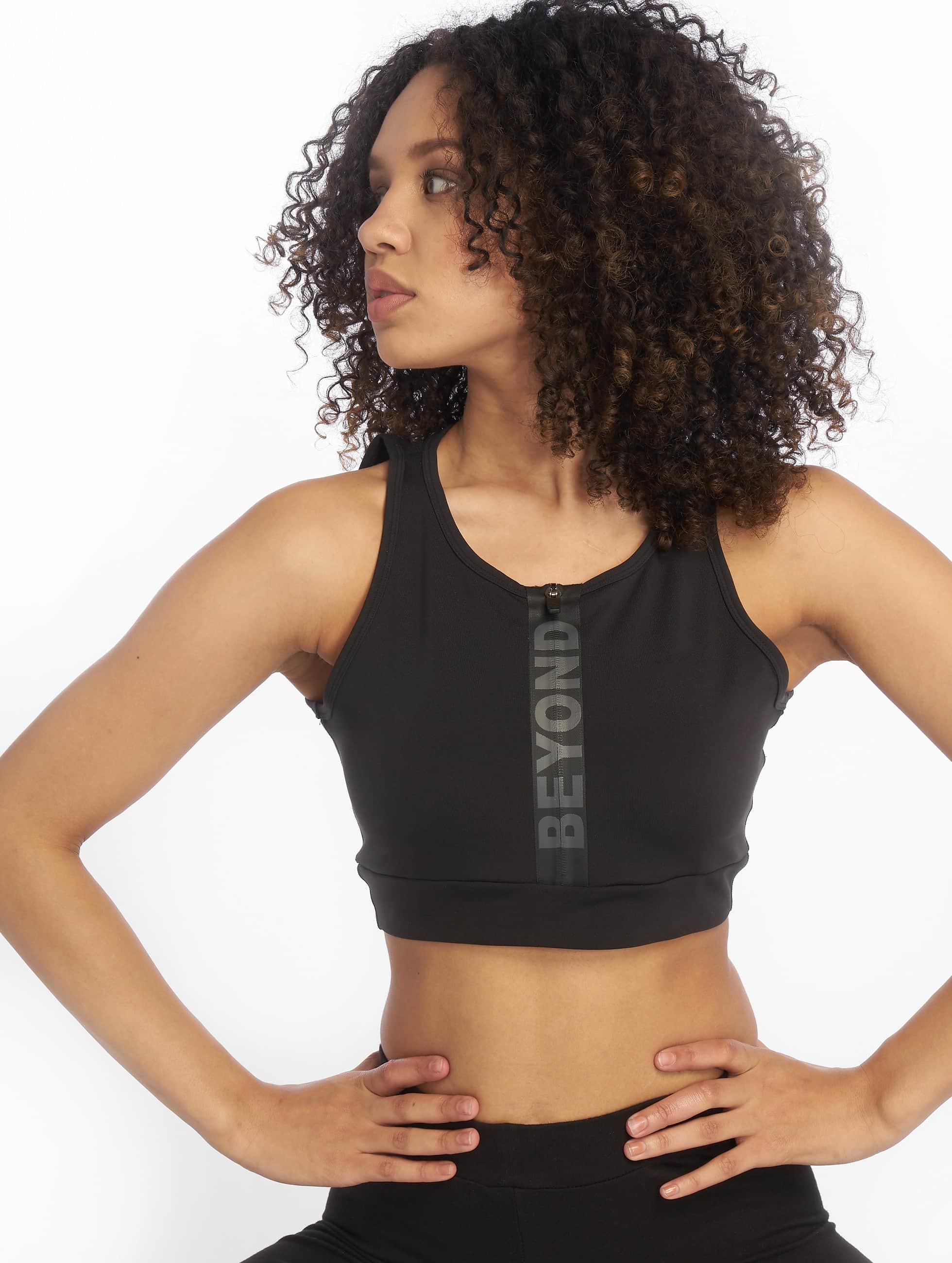Beyond Limits   Intense Front Zip noir Femme Soutiens-gorge de sport