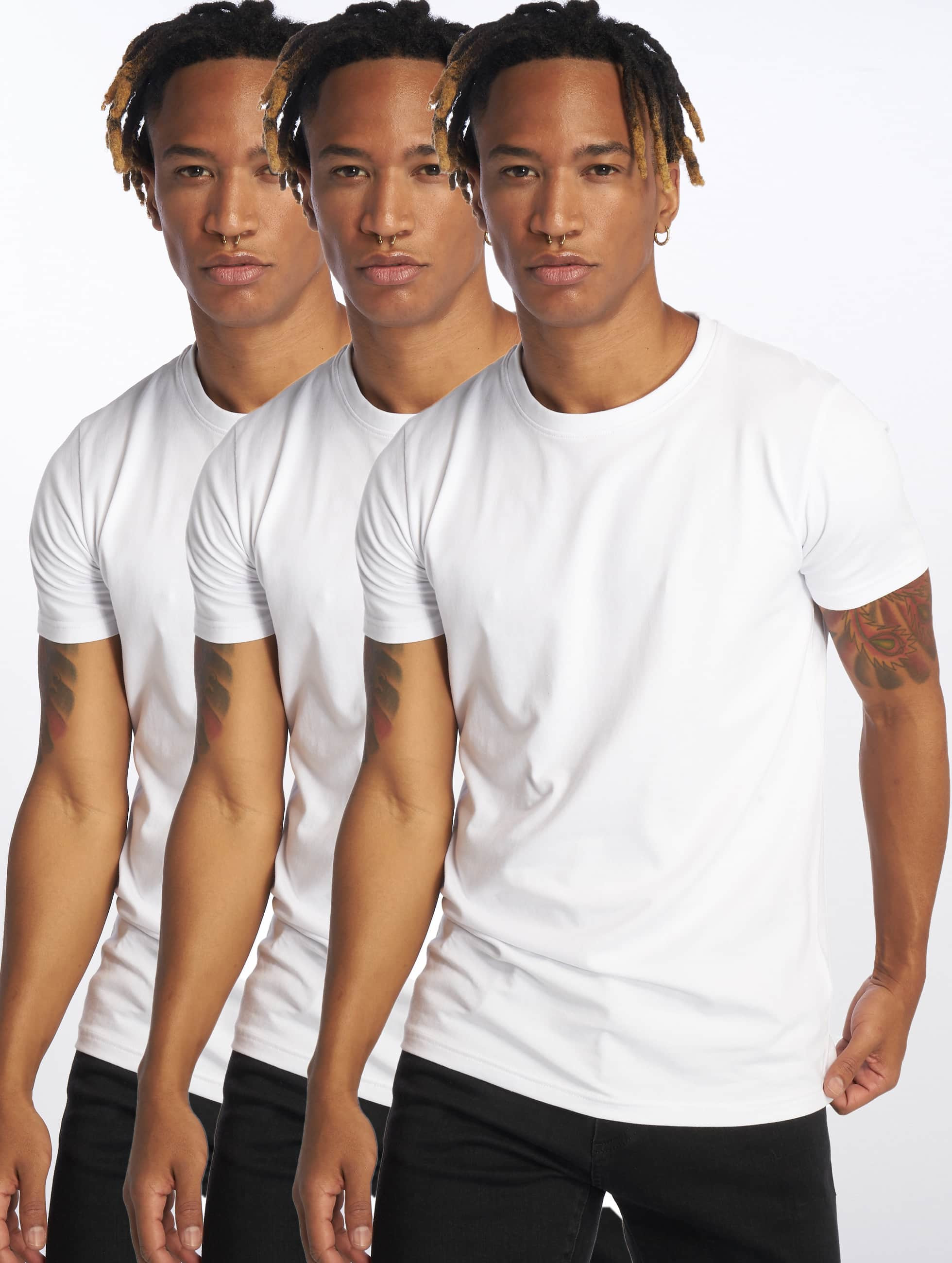 DEF / T-Shirt Weary 3er Pack in white M