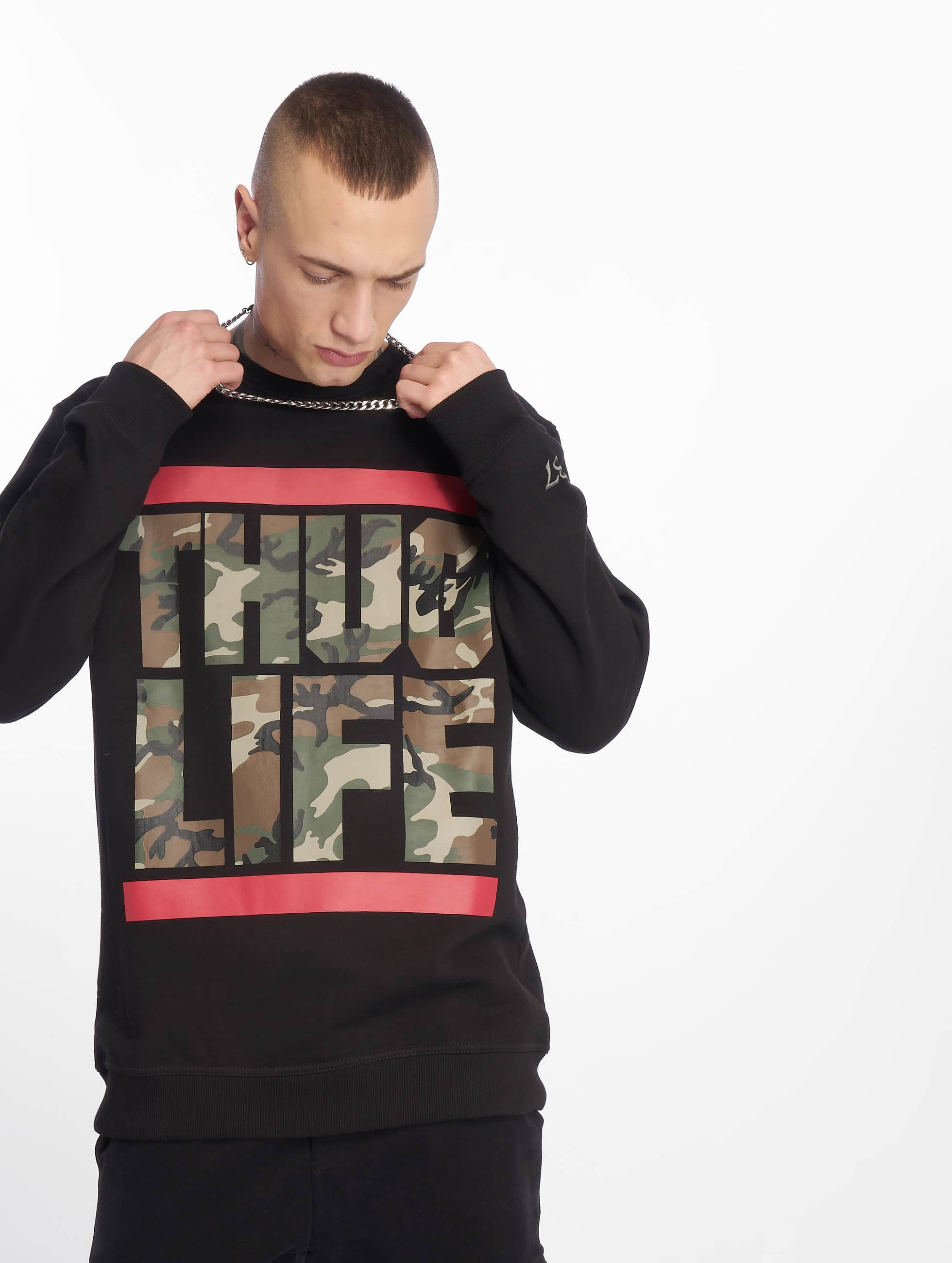 Thug Life / Jumper B.Fight in black 6XL