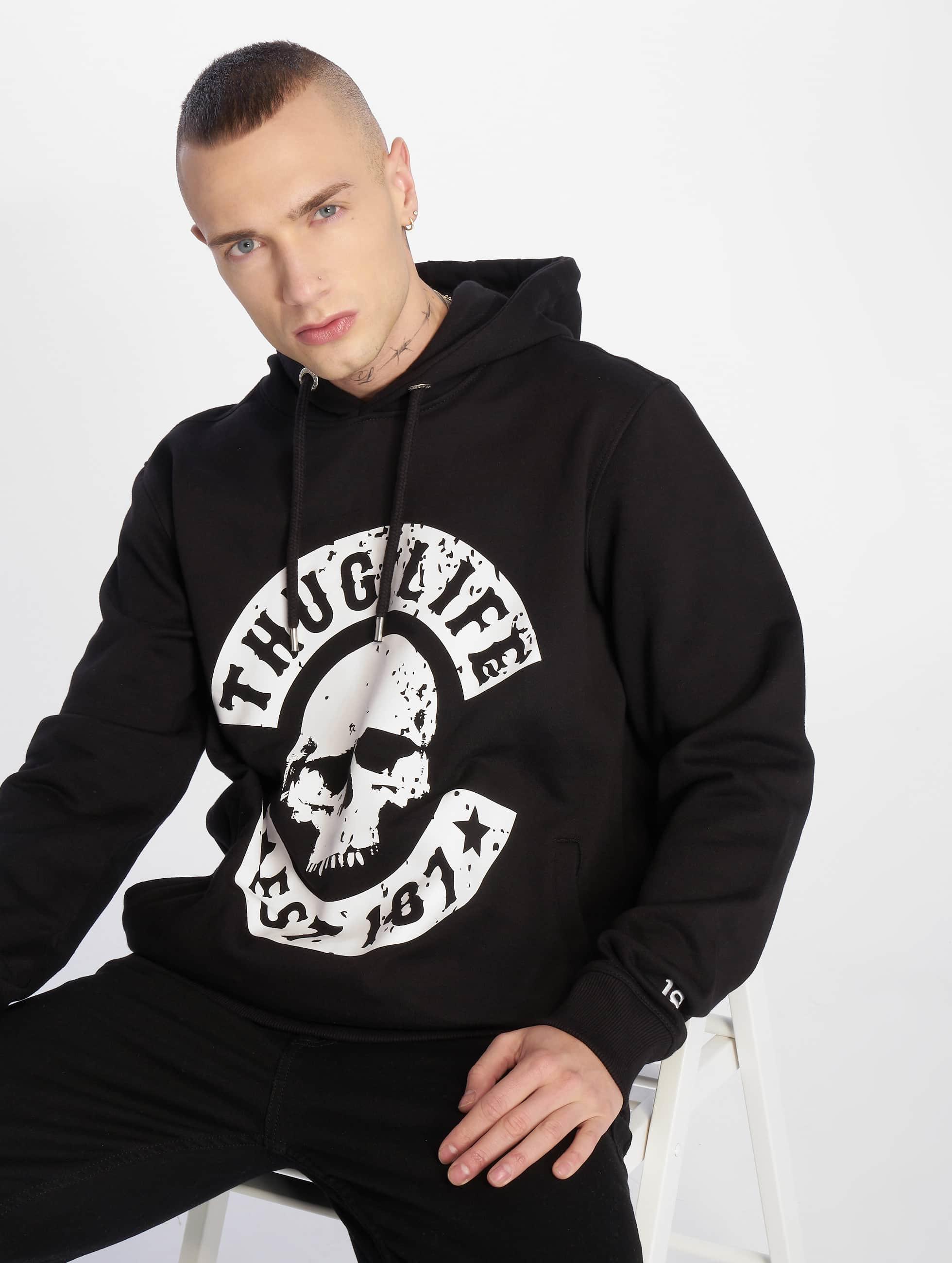 Thug Life / Hoodie B.Distress in black M