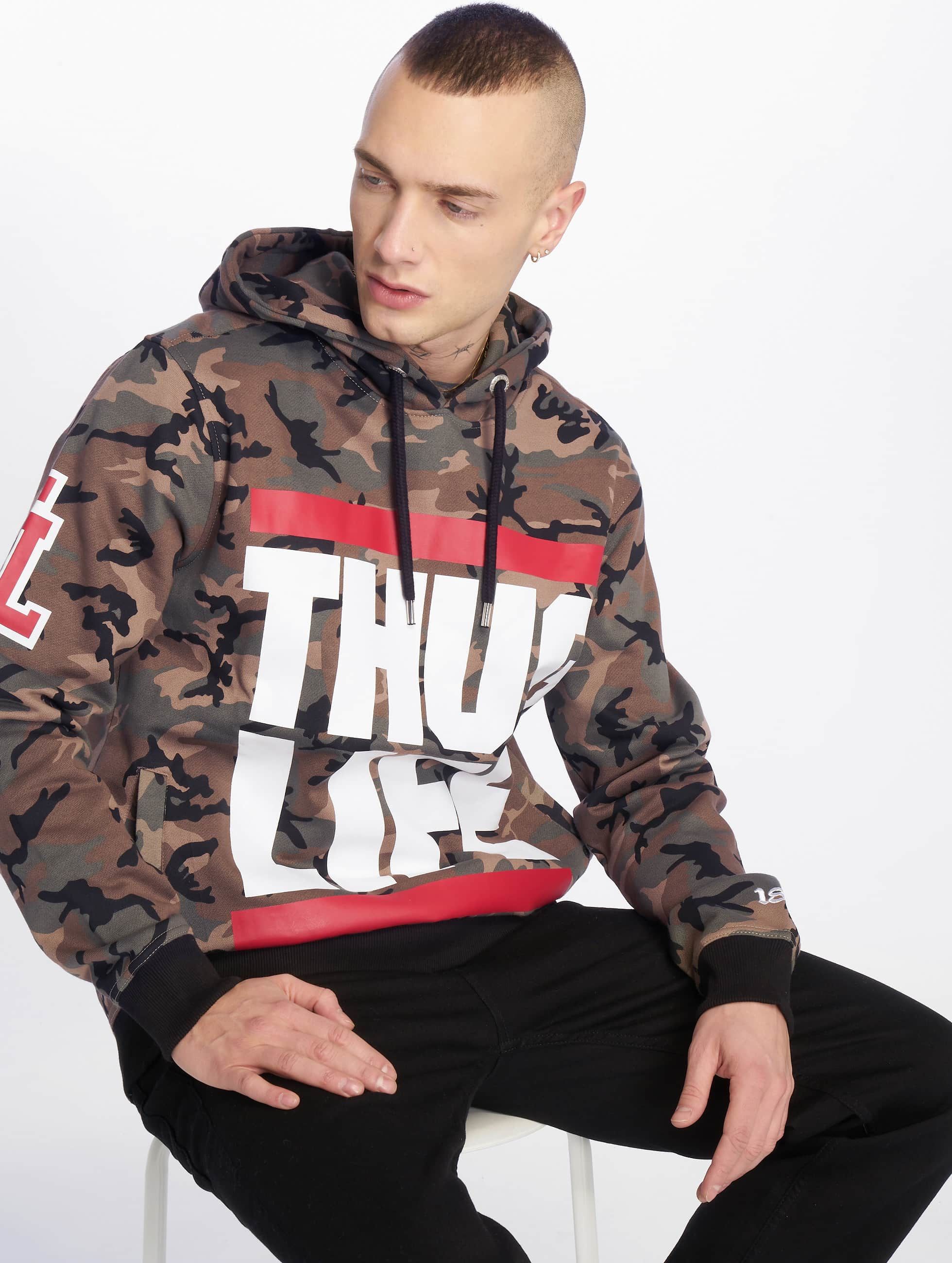 Thug Life / Hoodie B.Fight in camouflage M