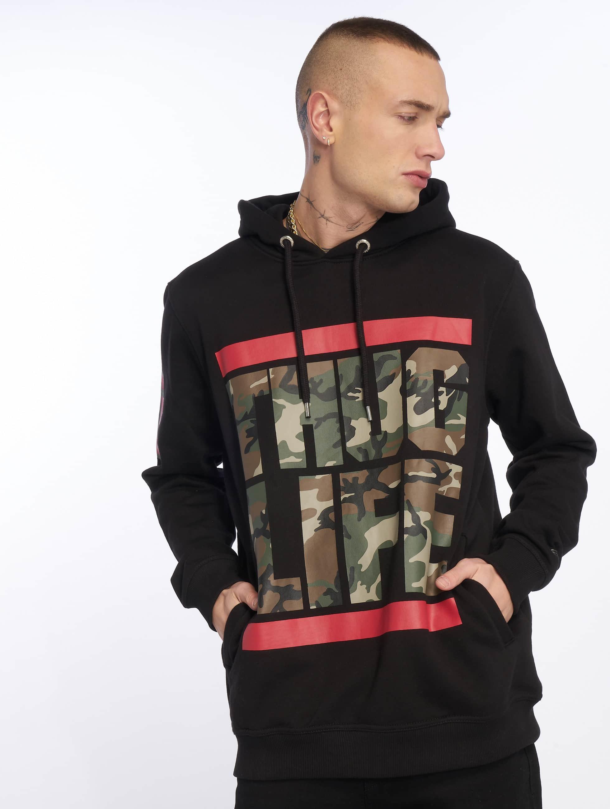 Thug Life / Hoodie B.Fight in black XL