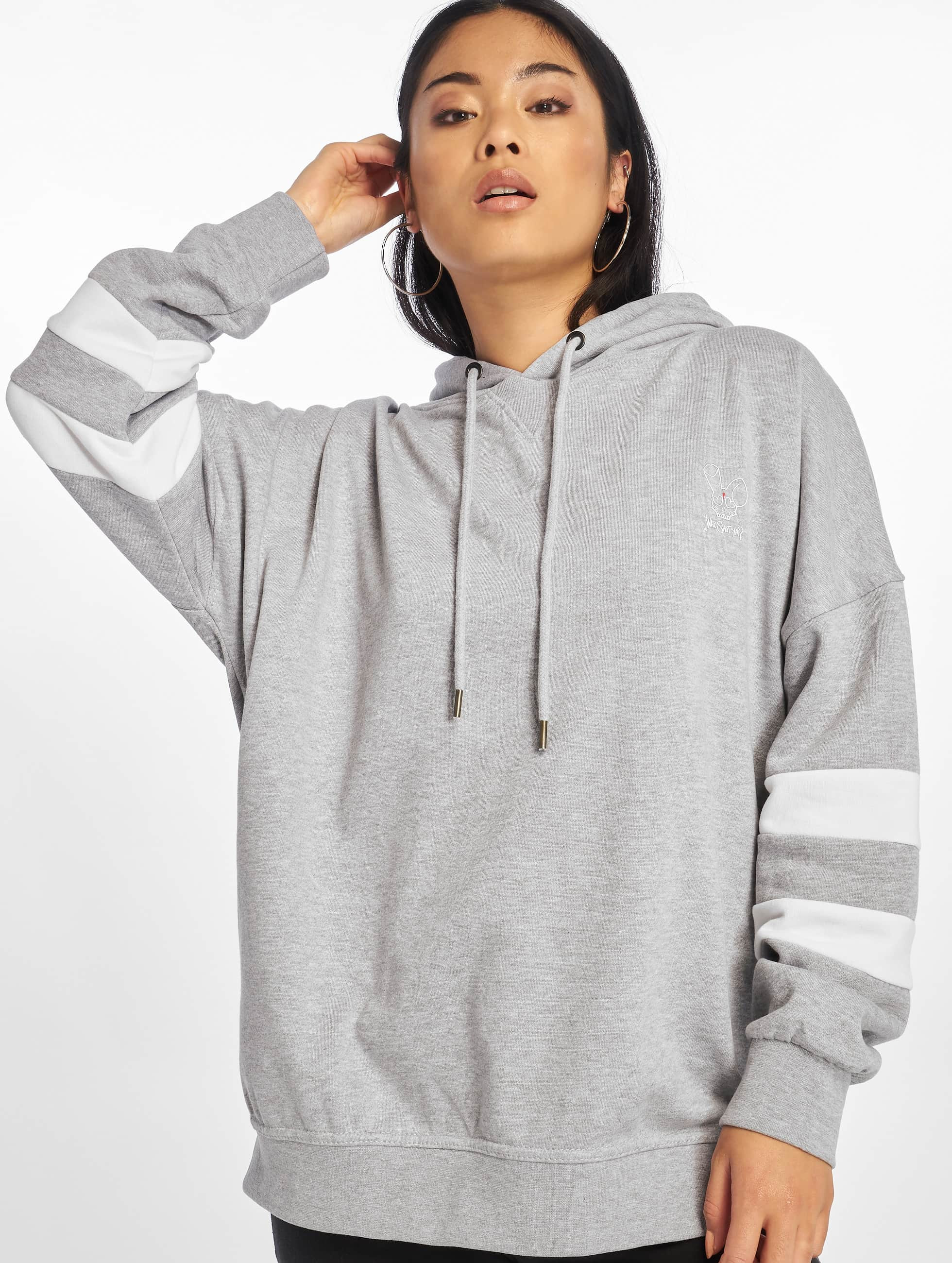 Who Shot Ya? / Hoodie Stripes in grey XS