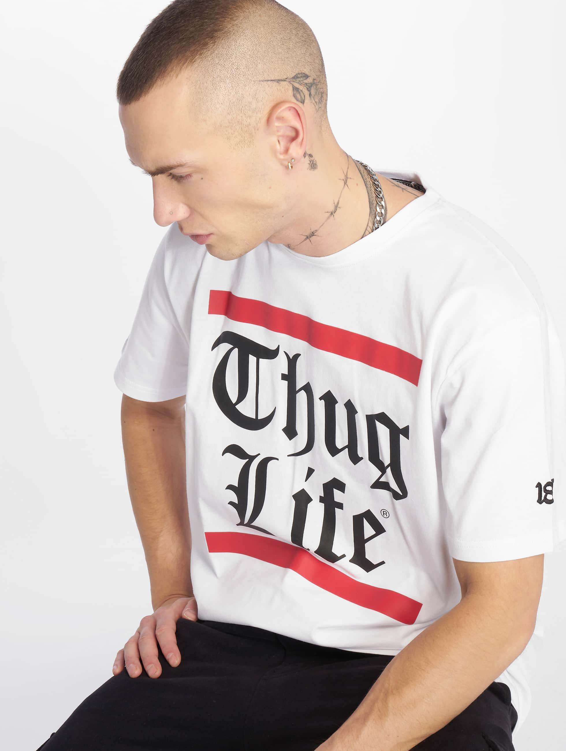 Thug Life / T-Shirt B.Gothic in white XL