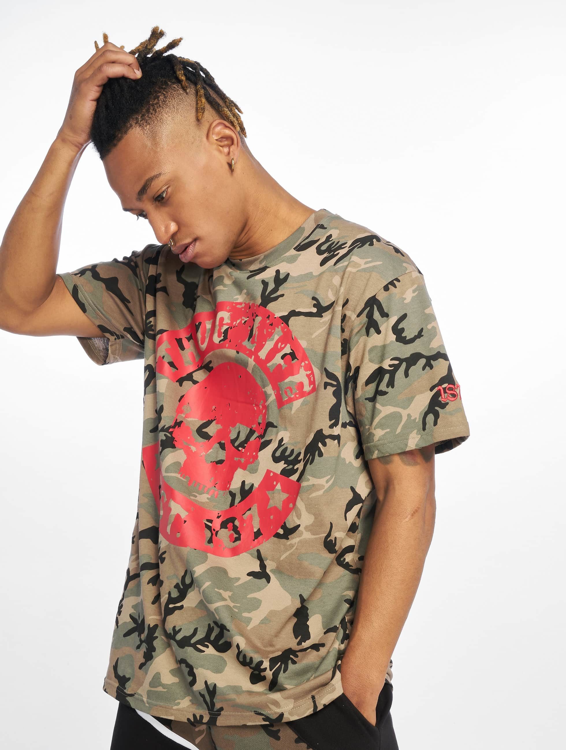 Thug Life / T-Shirt B.Distress in camouflage S