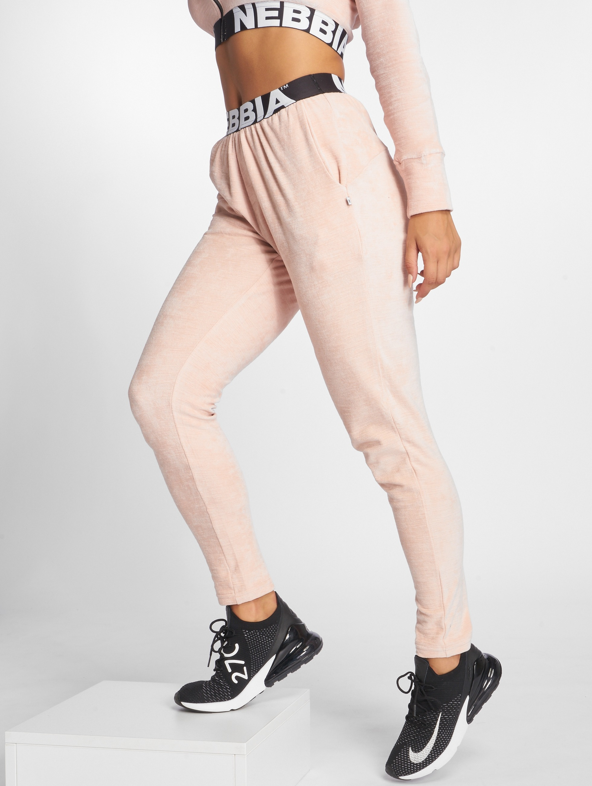 Nebbia | Drop Crotch rose Femme Pantalons de jogging