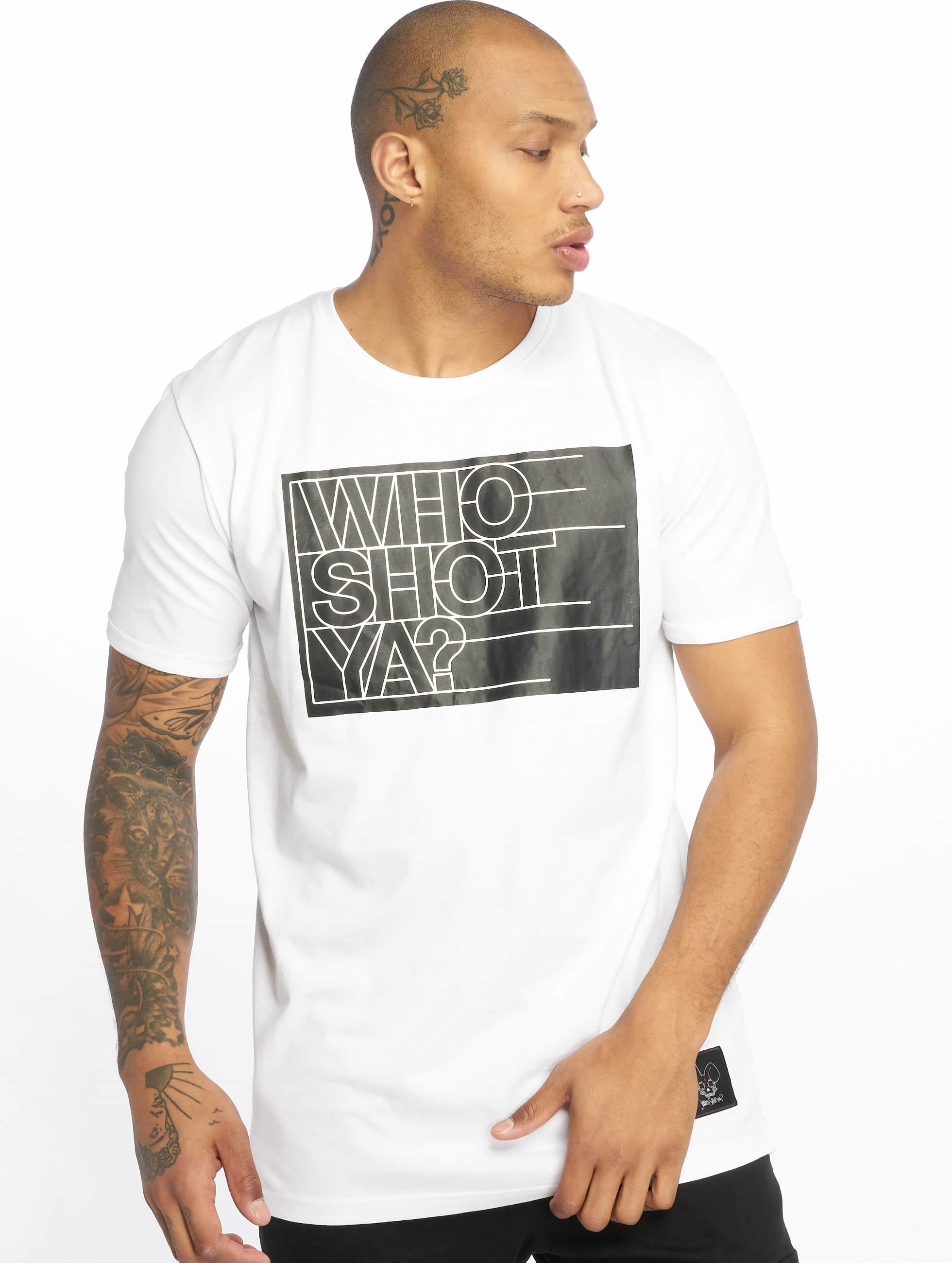 Who Shot Ya? / T-Shirt Sling in white XL