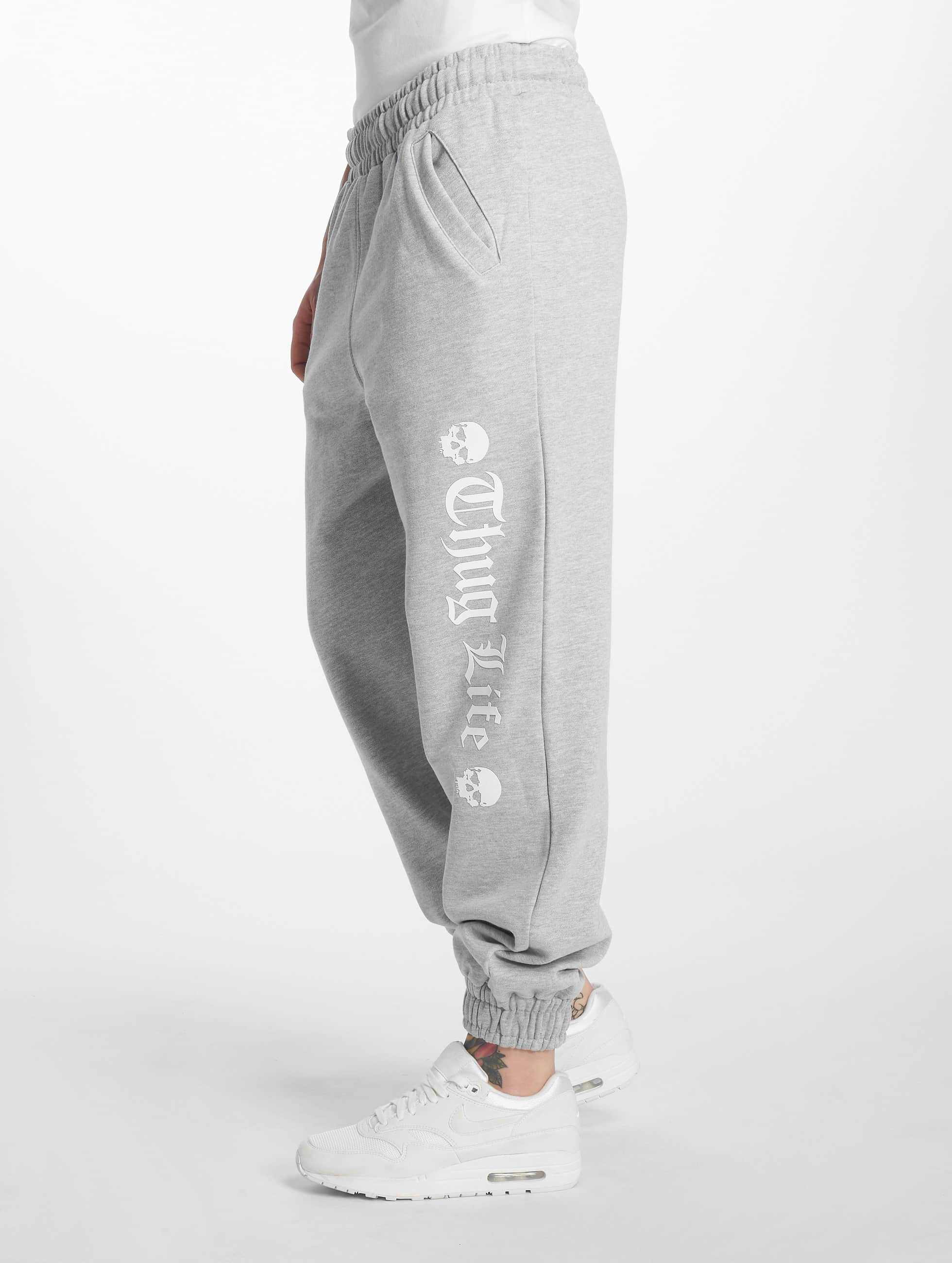Thug Life / Sweat Pant Grea in grey XL