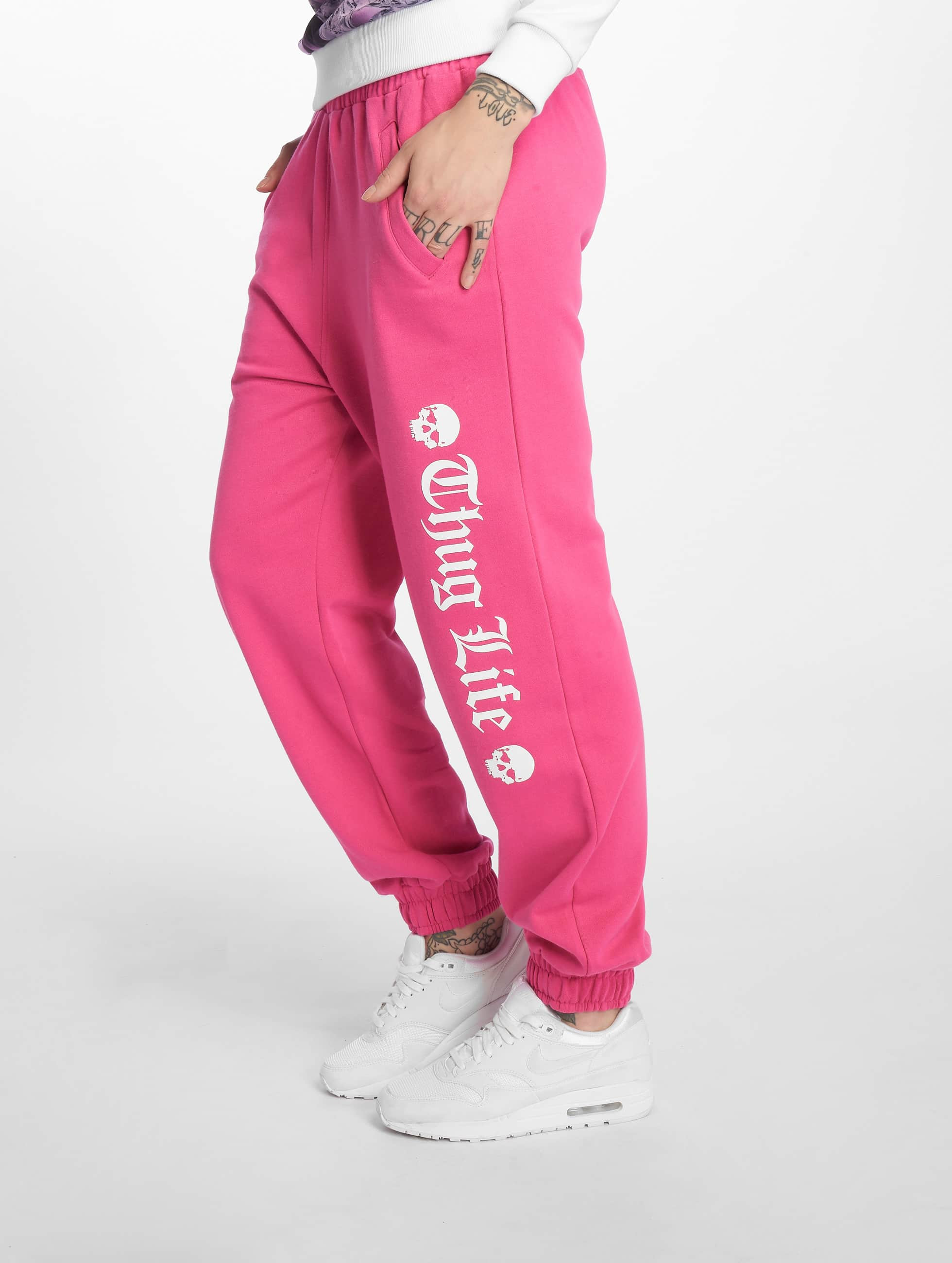Thug Life / Sweat Pant Grea in pink XS