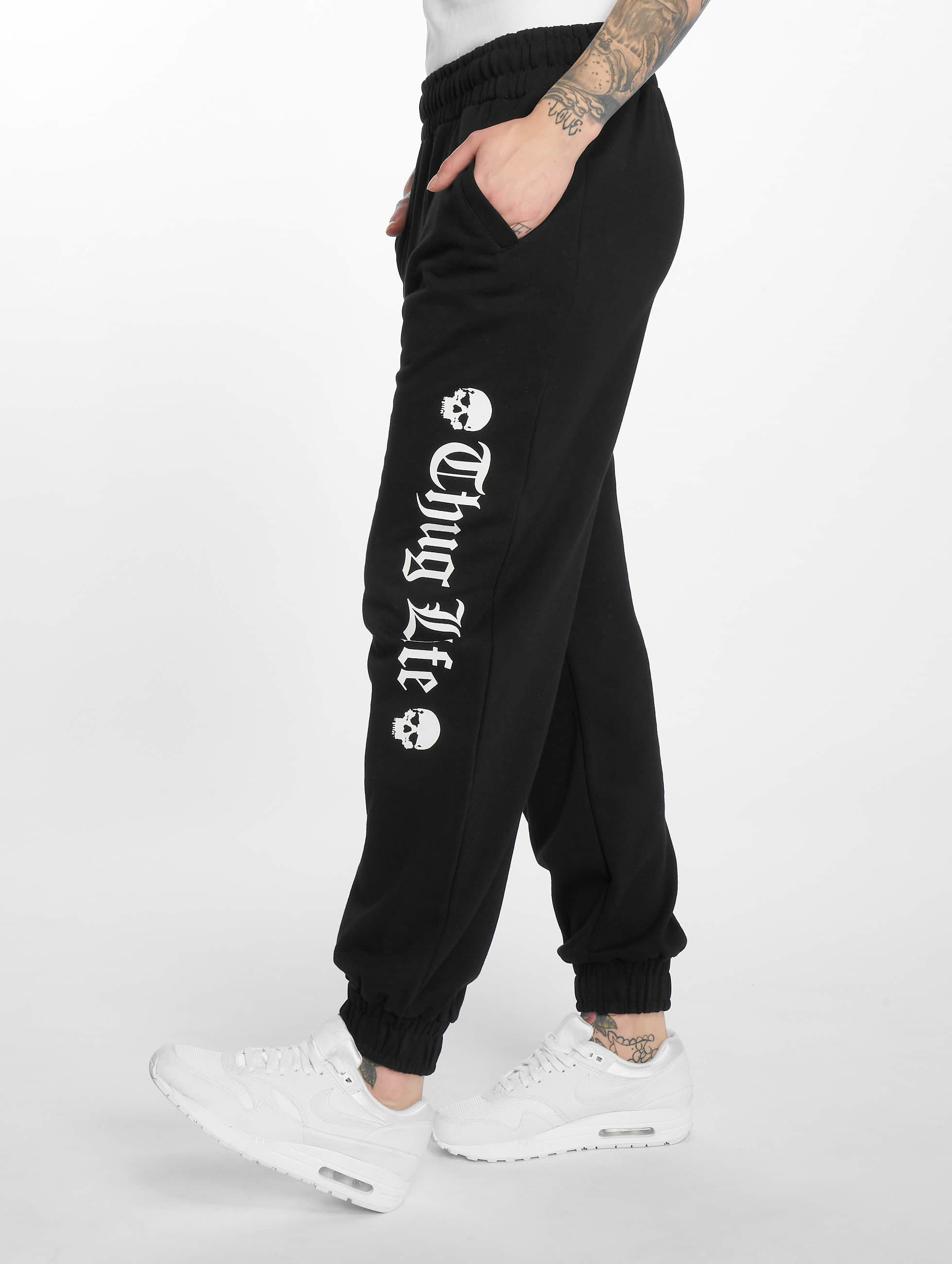 Thug Life / Sweat Pant Grea in black XS