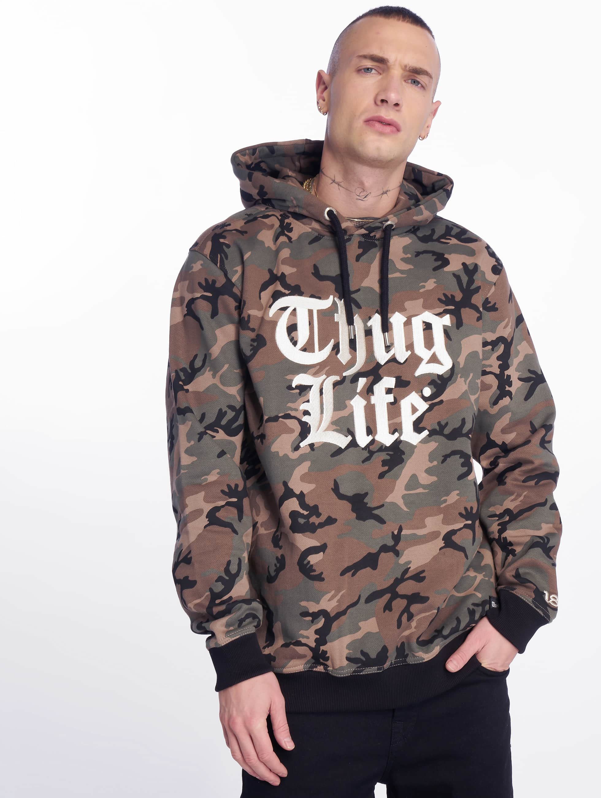 Thug Life / Hoodie Ssiv in camouflage XL