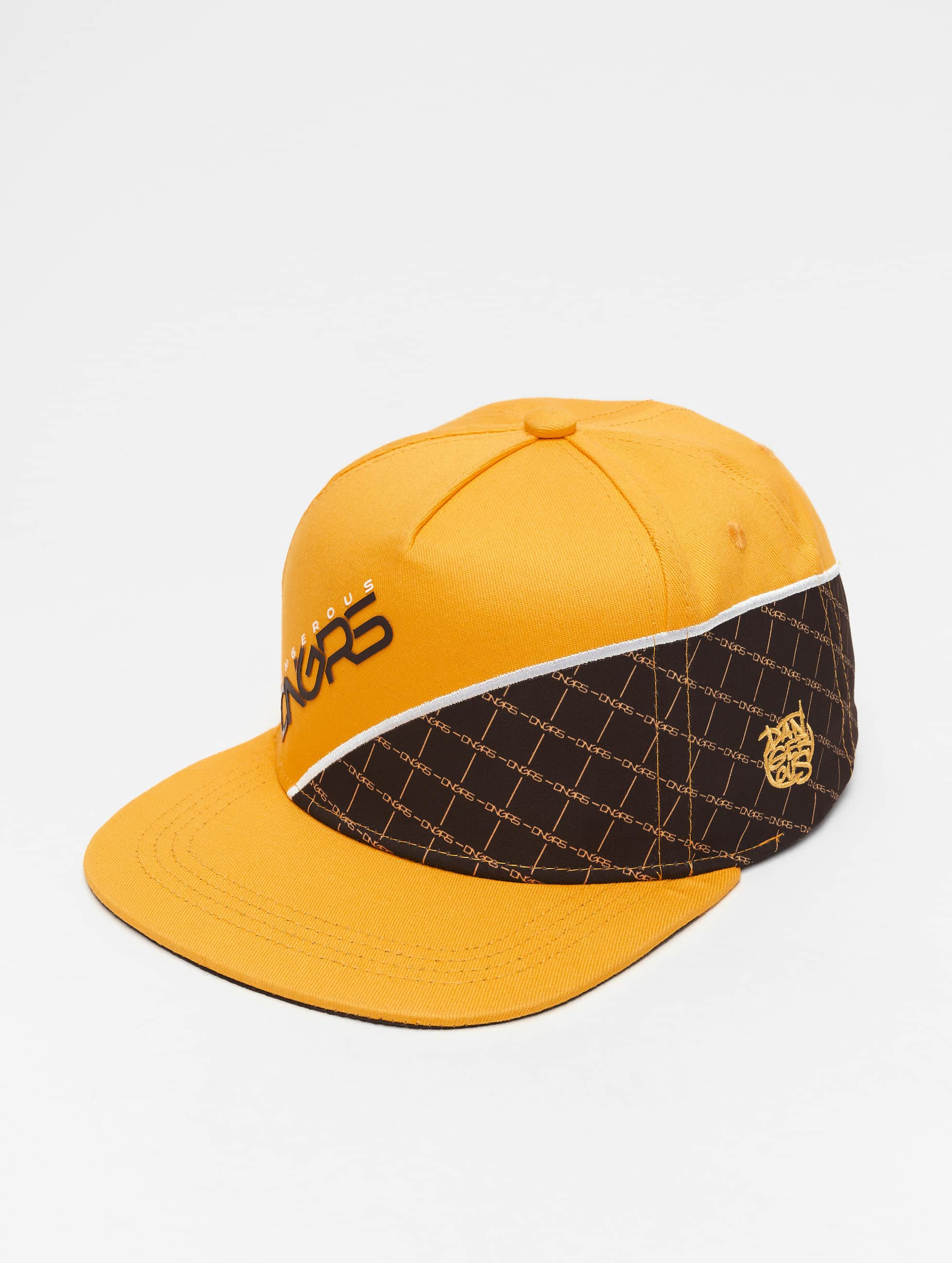 Dangerous DNGRS / 5 Panel Caps Woody in yellow Adjustable