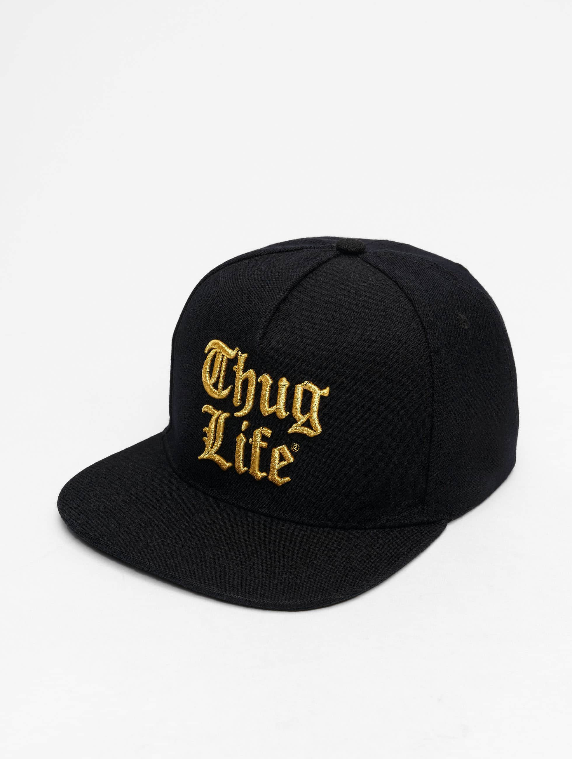 Thug Life / Snapback Cap Nico in black Adjustable