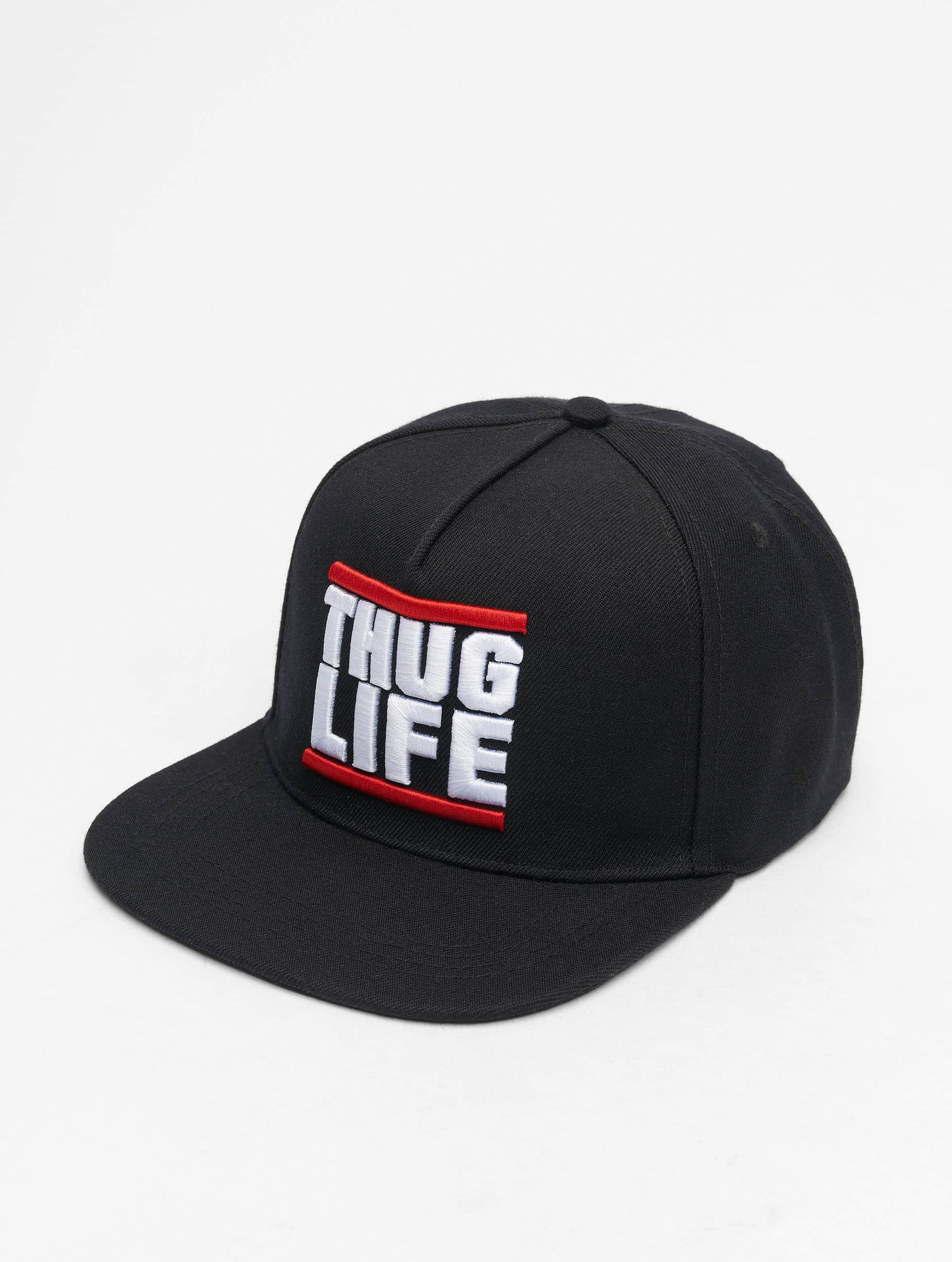 Thug Life / Snapback Cap Creutz in black Adjustable
