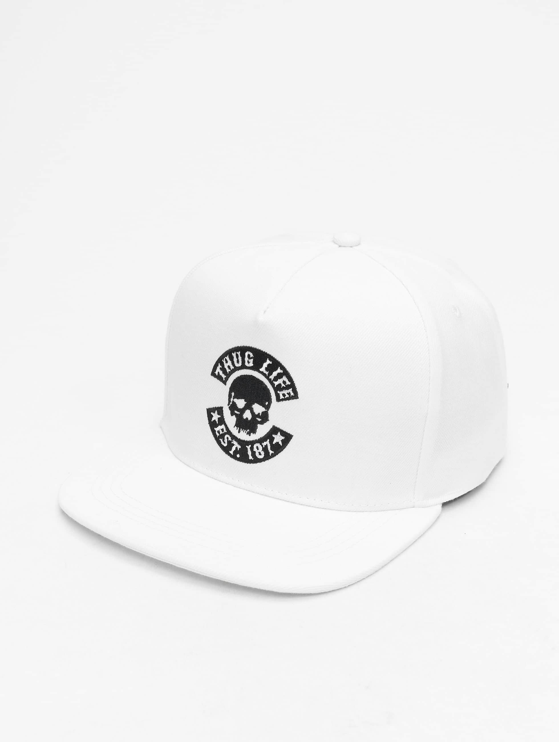 Thug Life / Snapback Cap B.Golden in white Adjustable