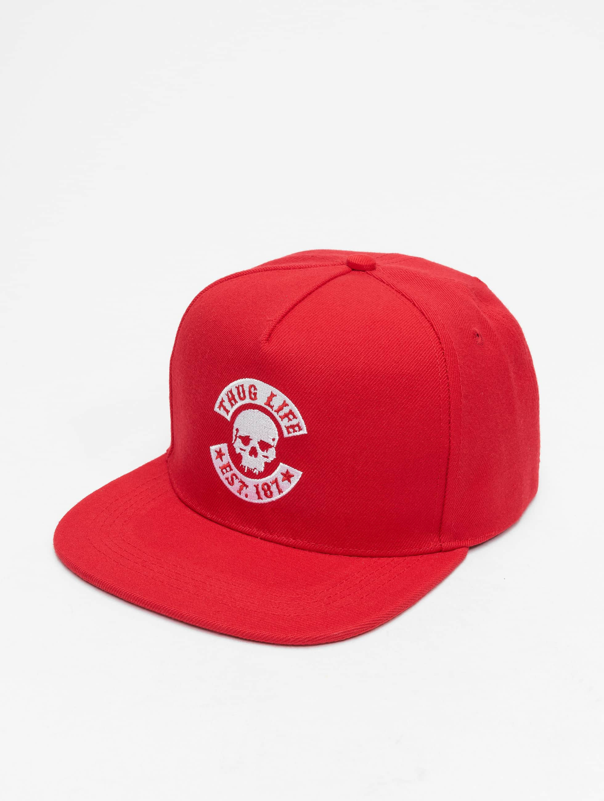 Thug Life / Snapback Cap B.Golden in red Adjustable