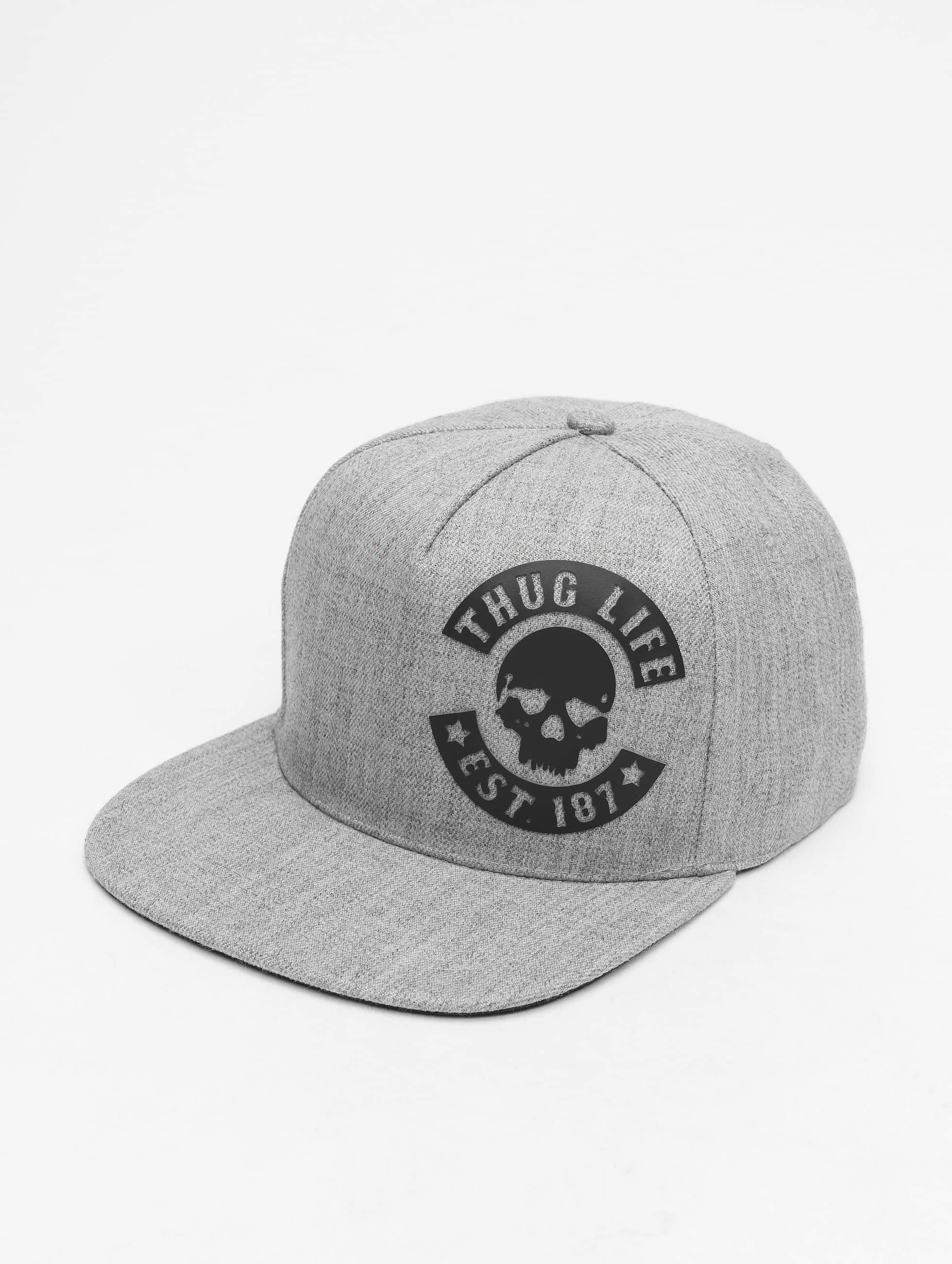 Thug Life / Snapback Cap Young in grey Adjustable