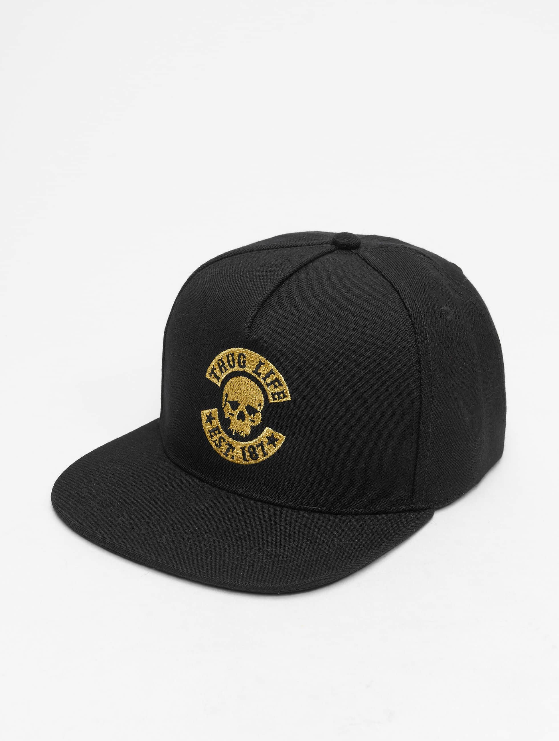 Thug Life / Snapback Cap B.Golden in black Adjustable