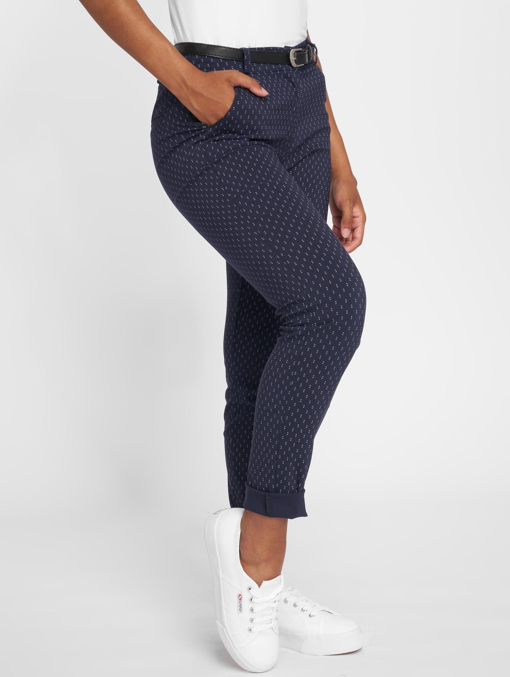 Joliko | Alleria  bleu Femme Pantalon chino