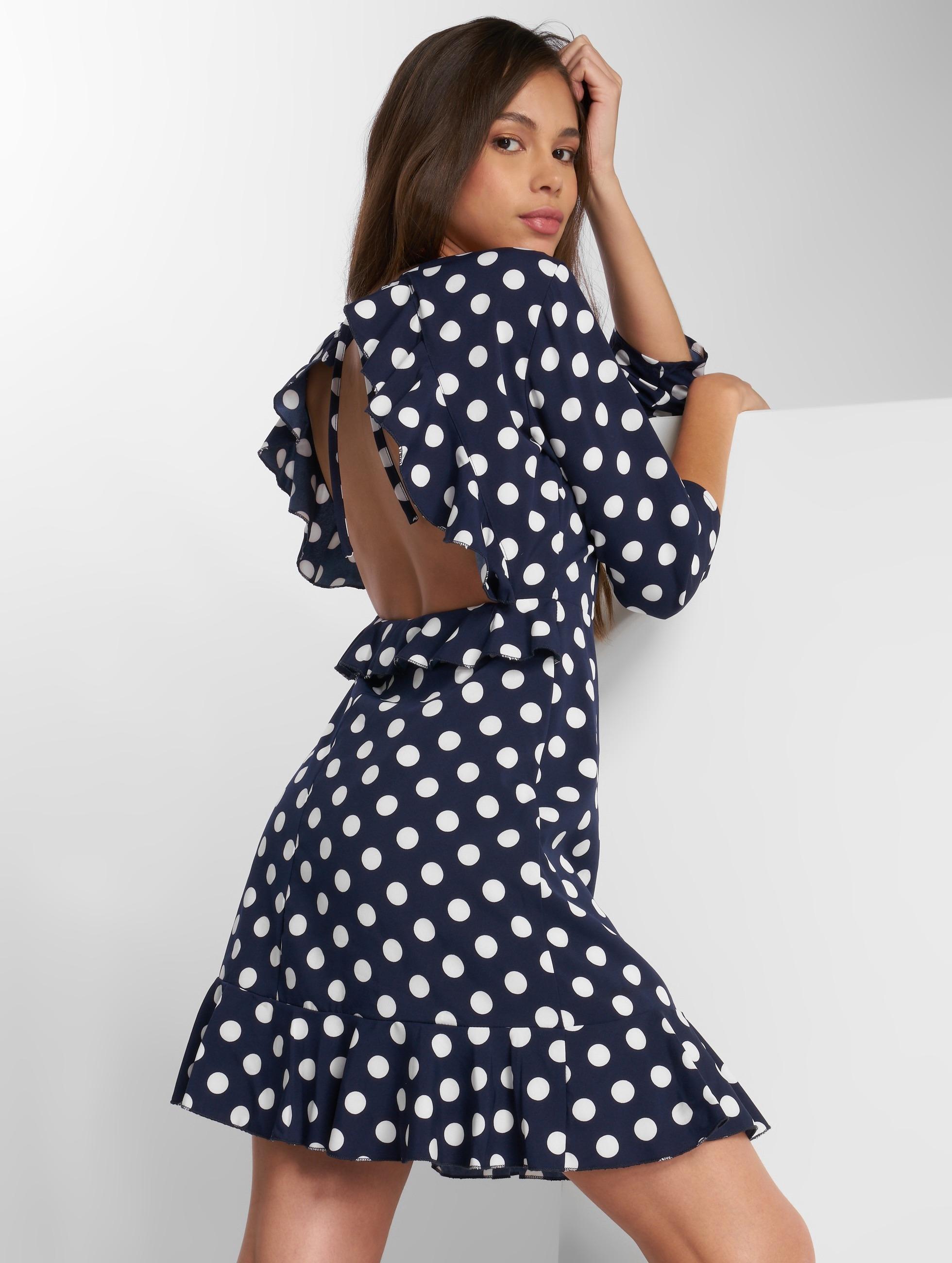 Danity Paris   Dot bleu Femme Robe