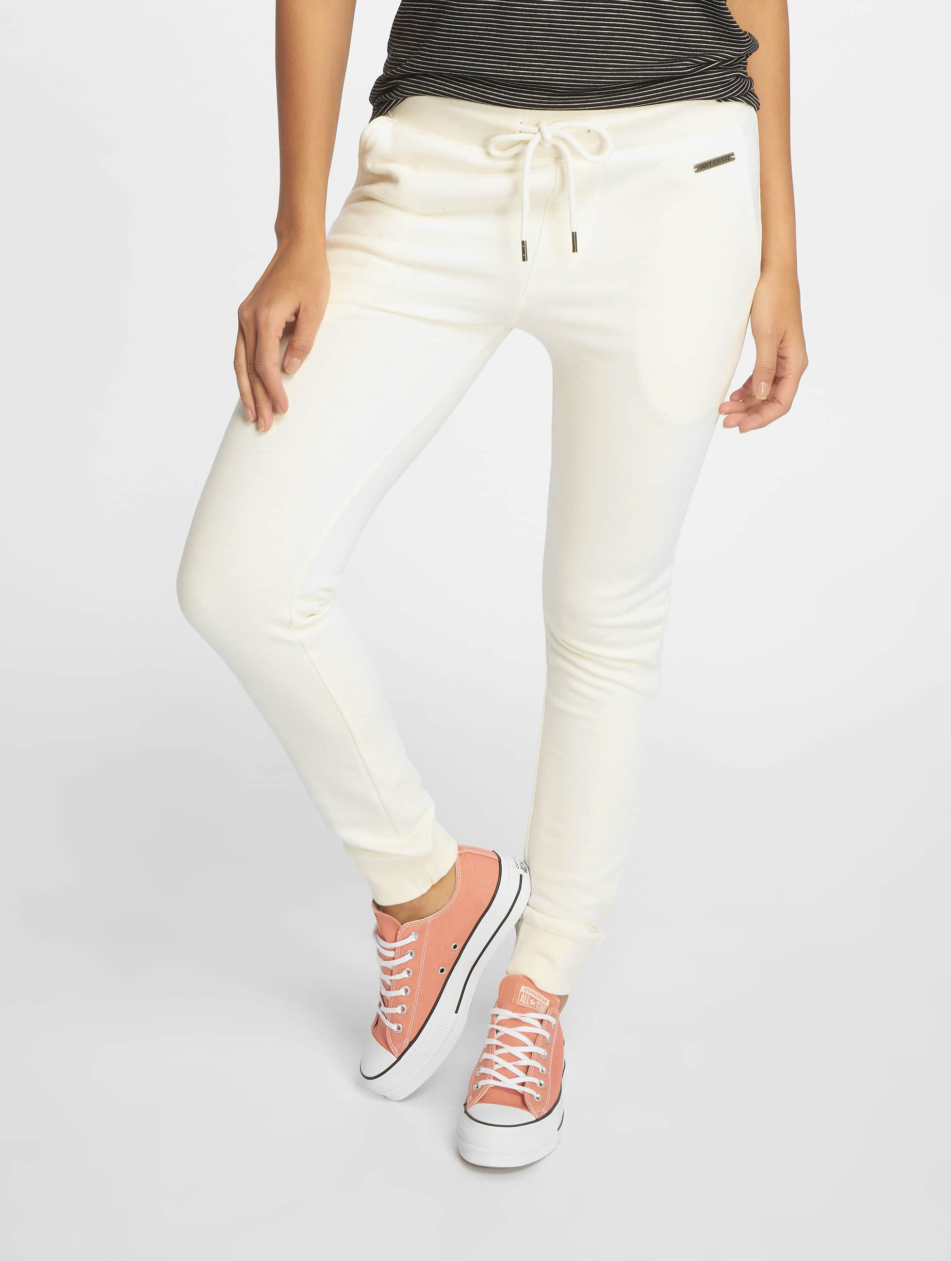 Just Rhyse / Sweat Pant Poppy in white XS