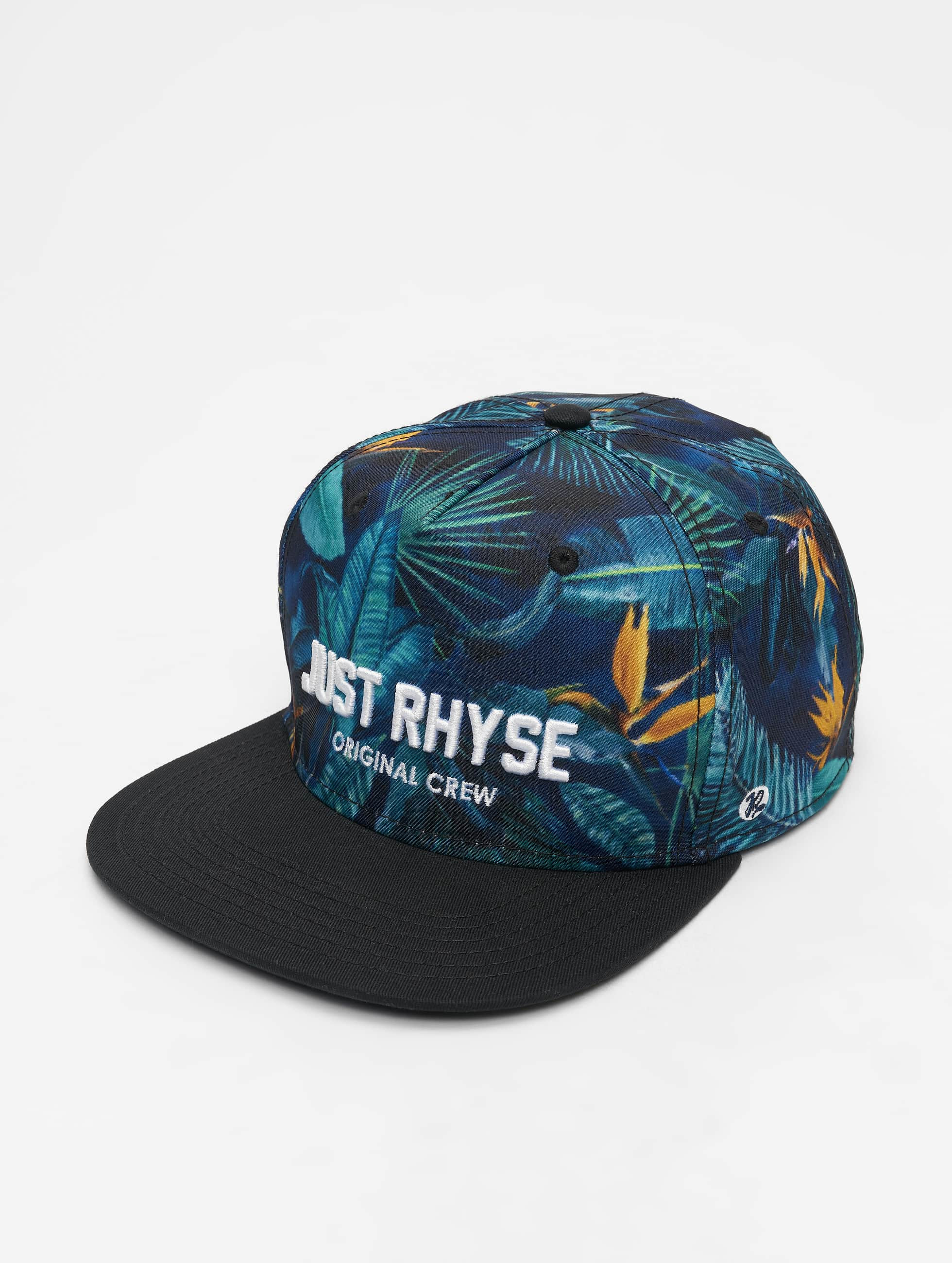 Just Rhyse / 5 Panel Caps Palm Habor in black Adjustable