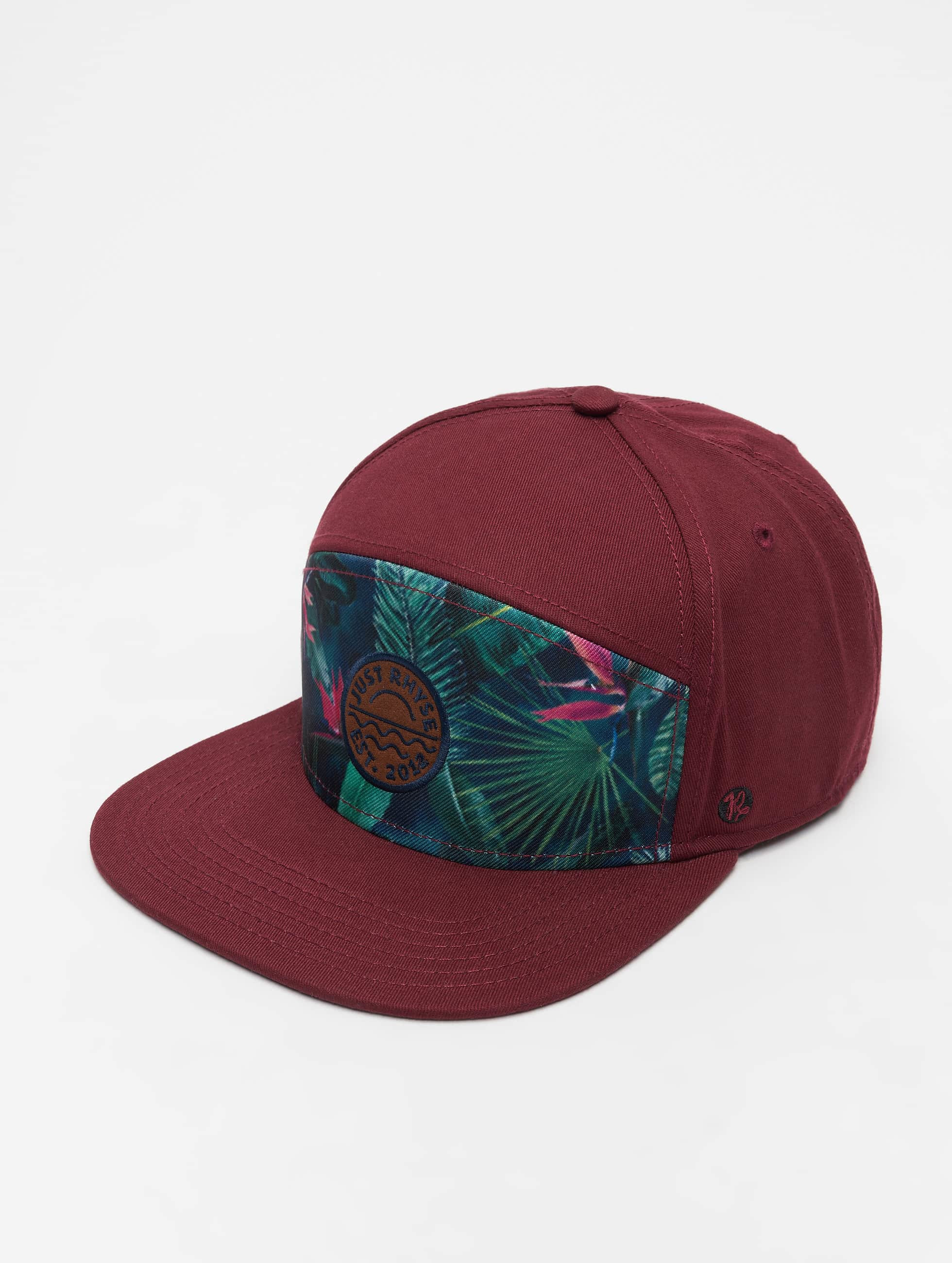 Just Rhyse / 5 Panel Caps Delray Beach in red Adjustable