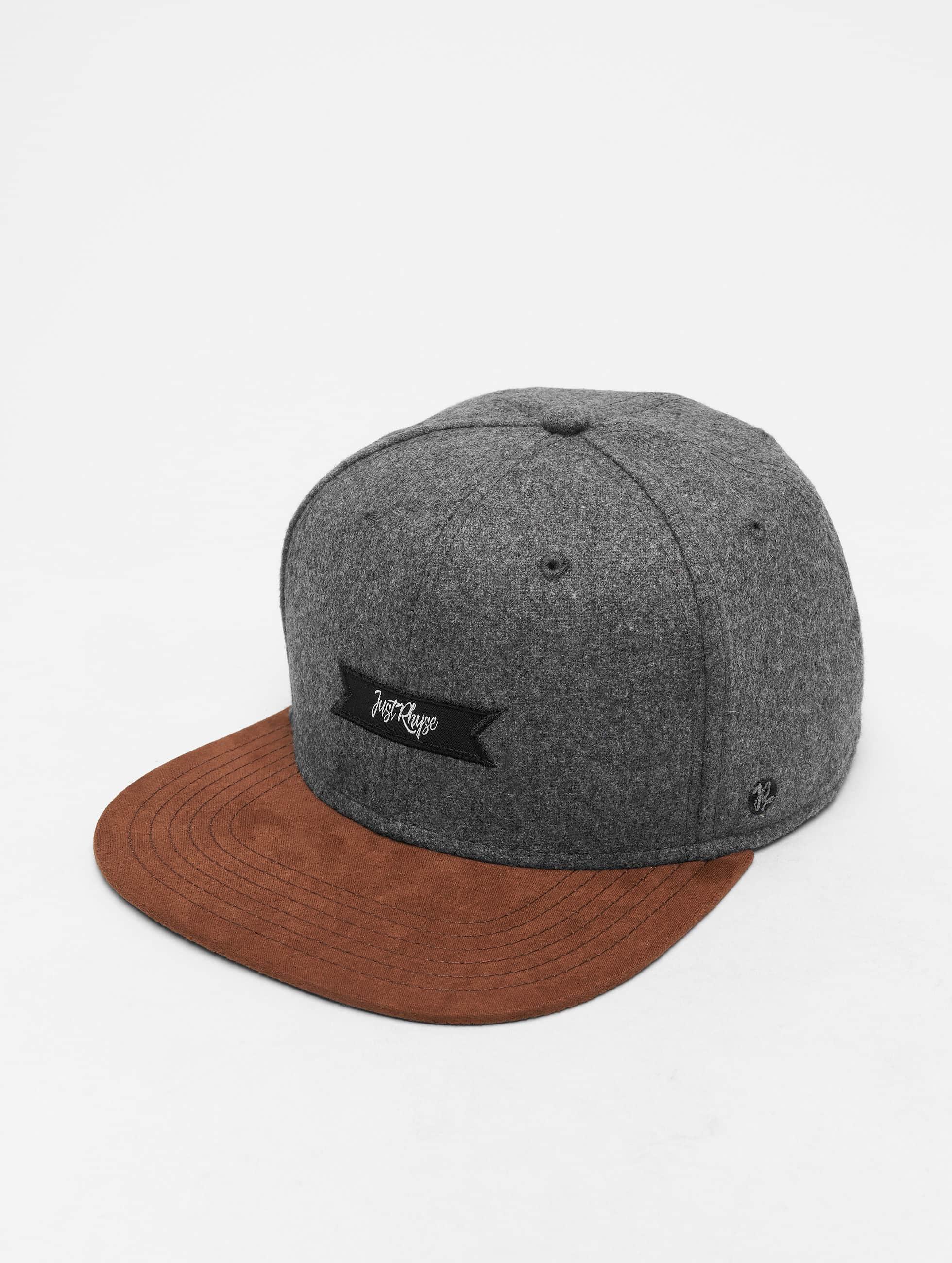 Just Rhyse / Snapback Cap Leesburg in grey Adjustable