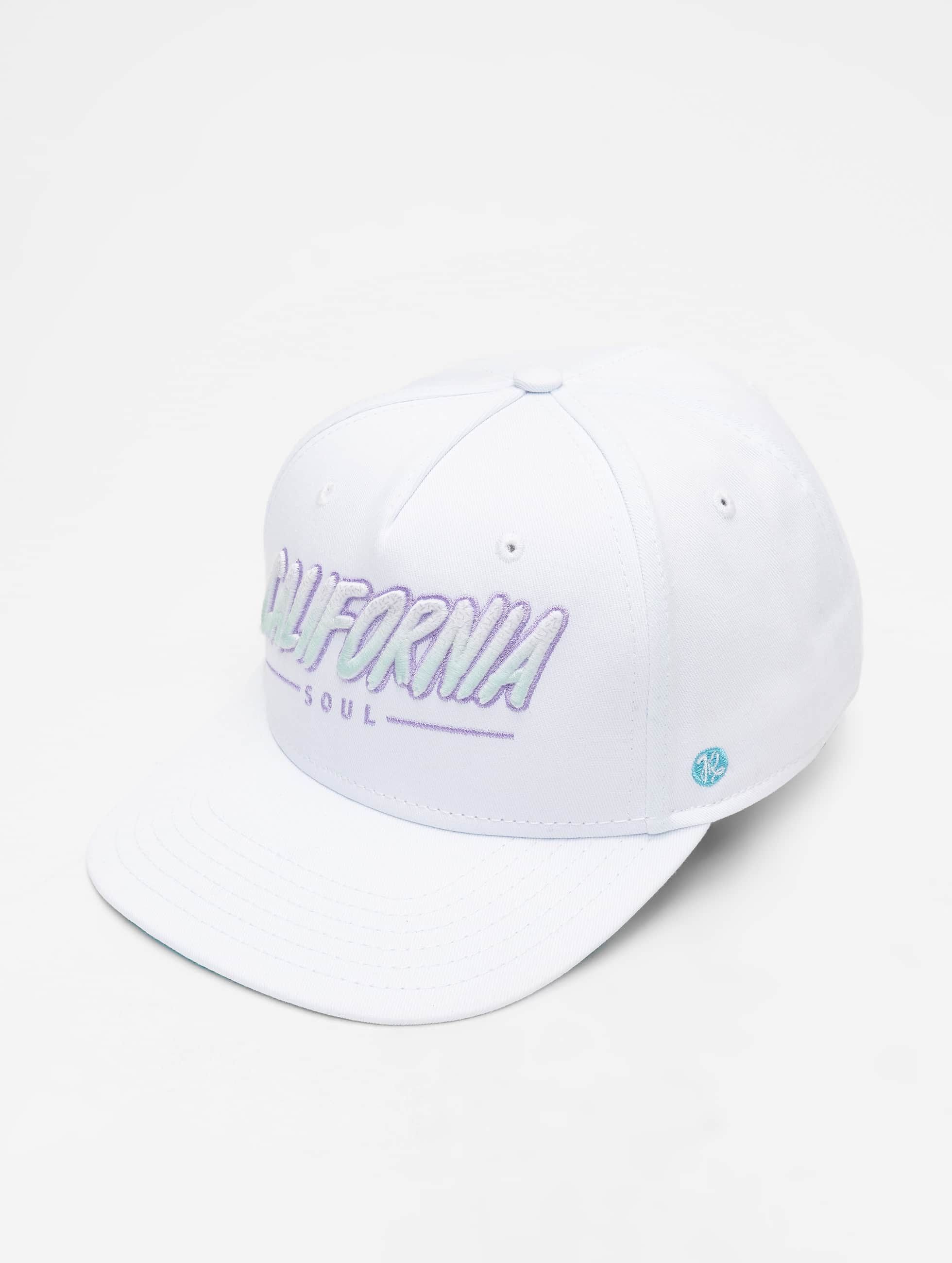 Just Rhyse / 5 Panel Caps Santa Monica in white Adjustable