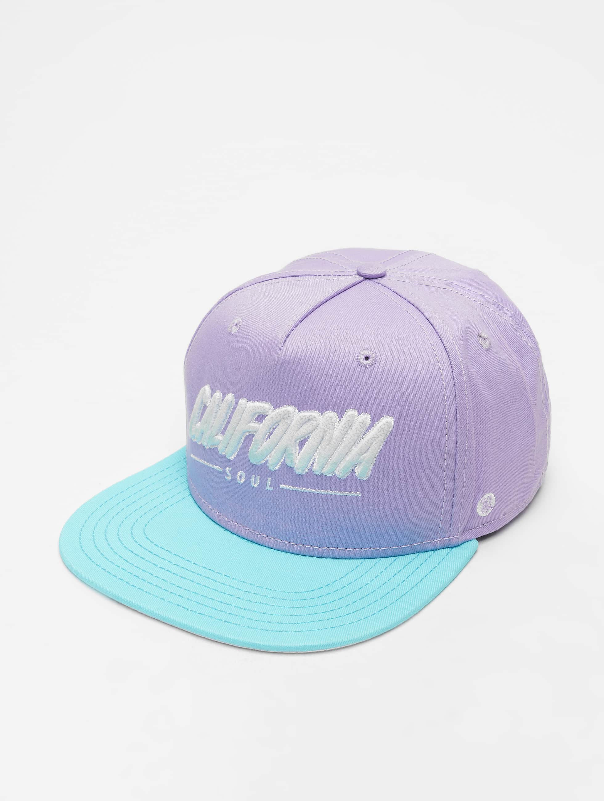 Just Rhyse / Snapback Cap Santa Monica in purple Adjustable