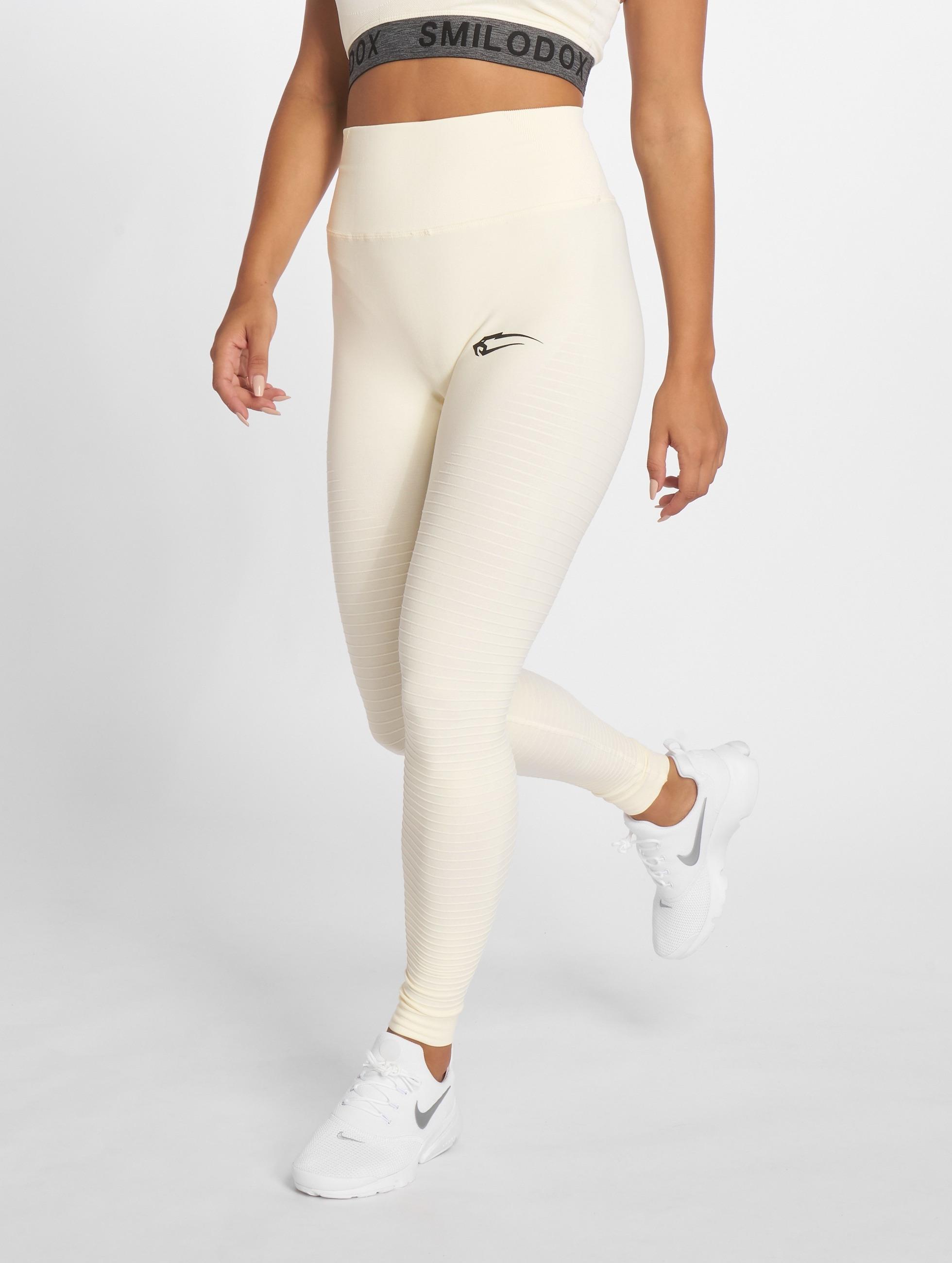Smilodox | Yura High Waist beige Femme Leggings de sport