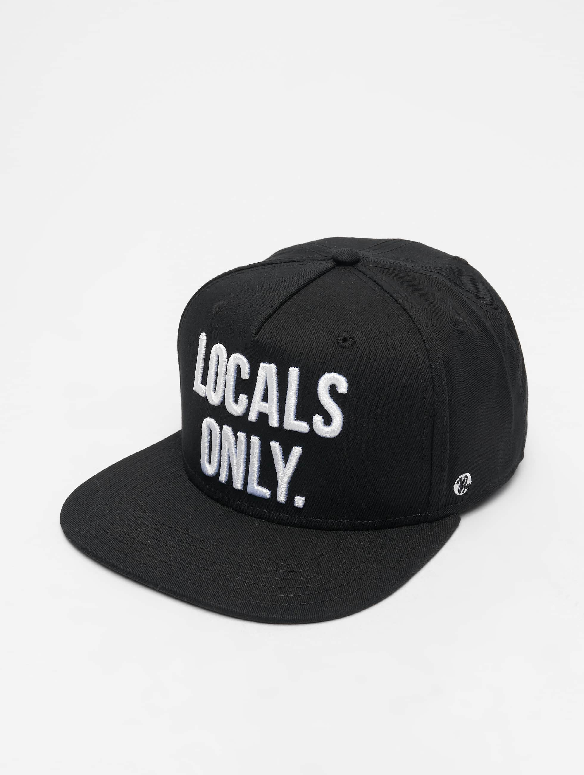 Just Rhyse / 5 Panel Caps Beverly Hills 5 in black Adjustable