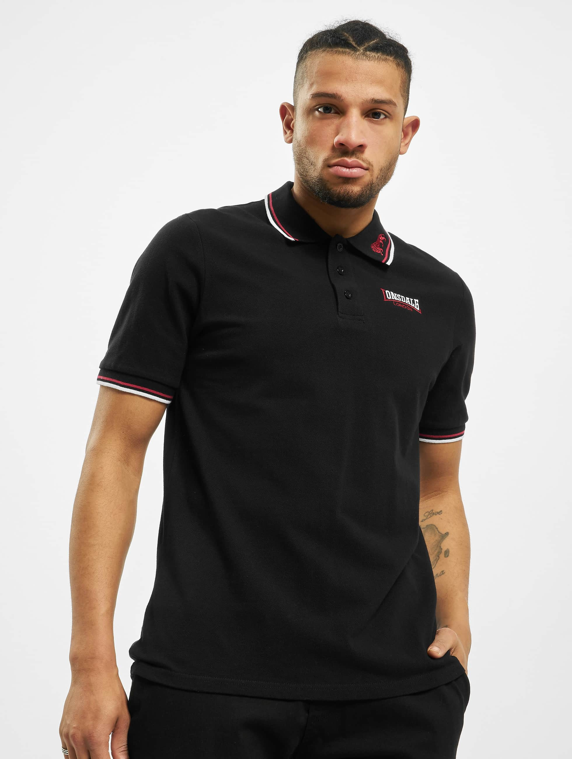 Lonsdale London Männer Poloshirt Lion Polo in schwarz