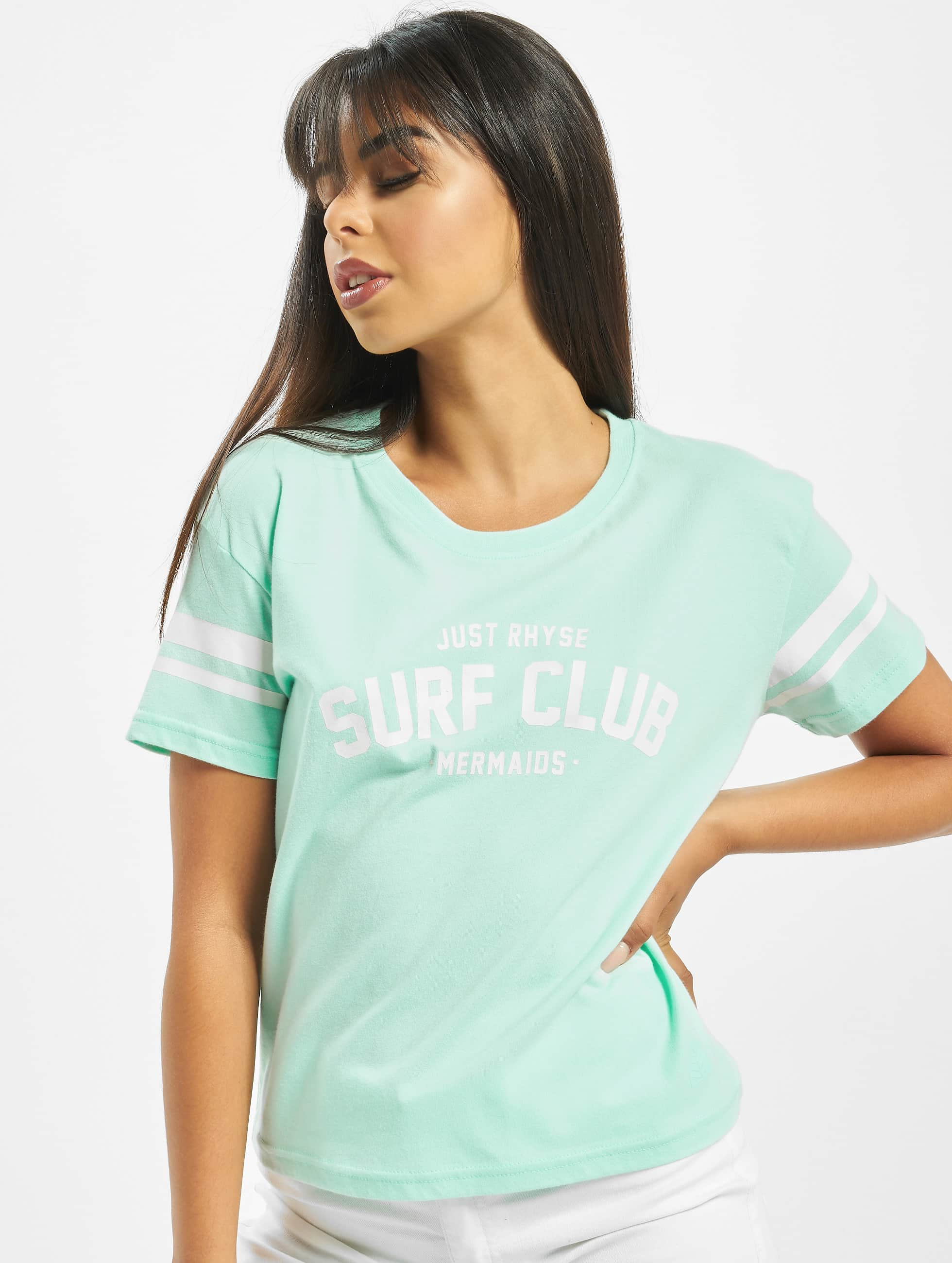 Just Rhyse / T-Shirt Santa Ana in turquoise XS