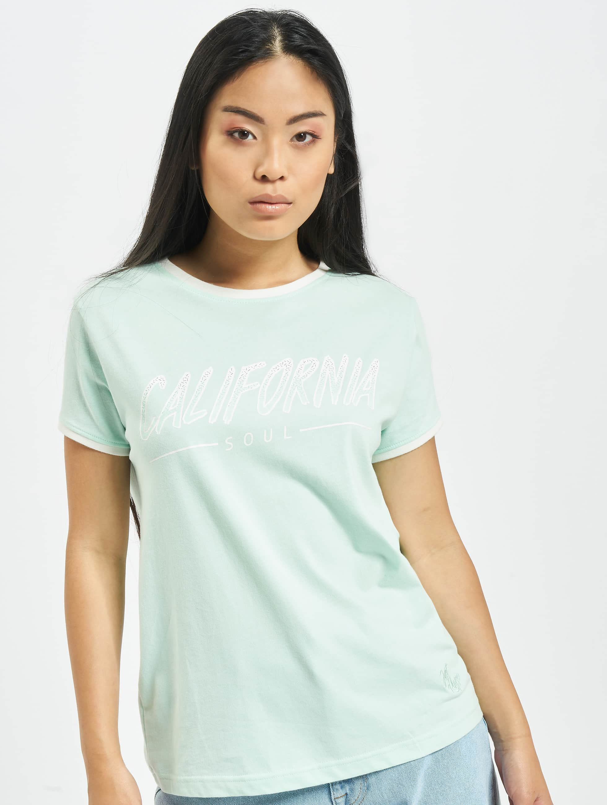 Just Rhyse / T-Shirt Santa Monica in turquoise XS