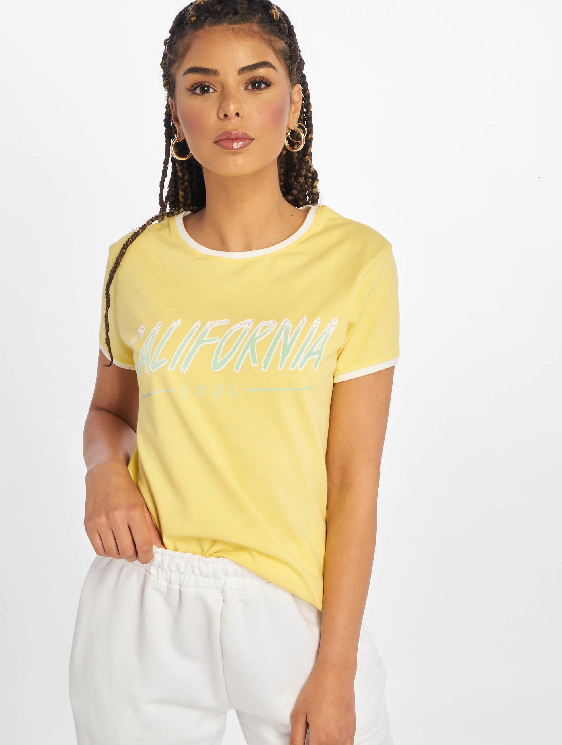 Just Rhyse / T-Shirt Santa Monica in yellow M
