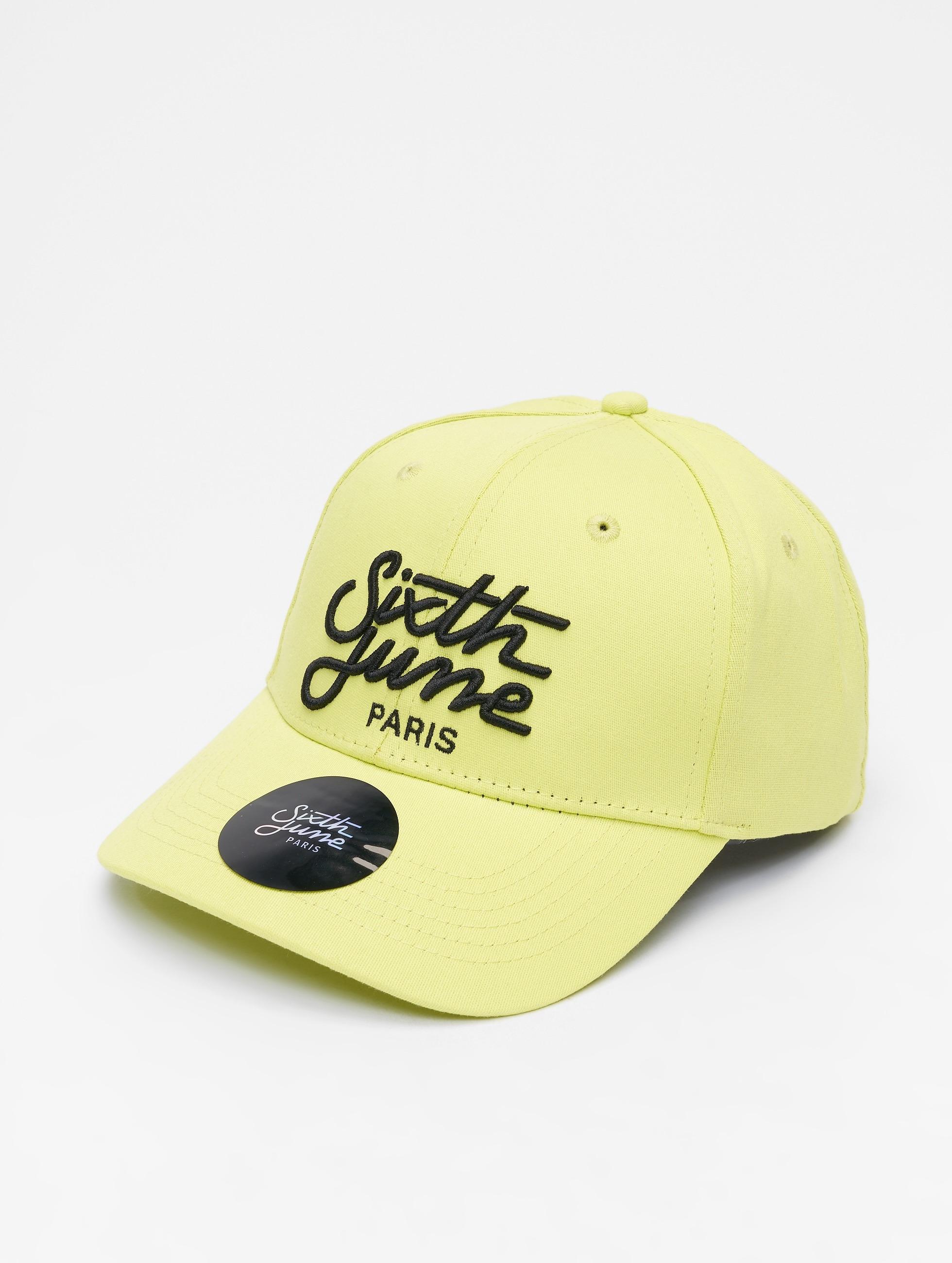 Sixth June | Curved Logo jaune Homme,Femme Casquette Snapback & Strapback