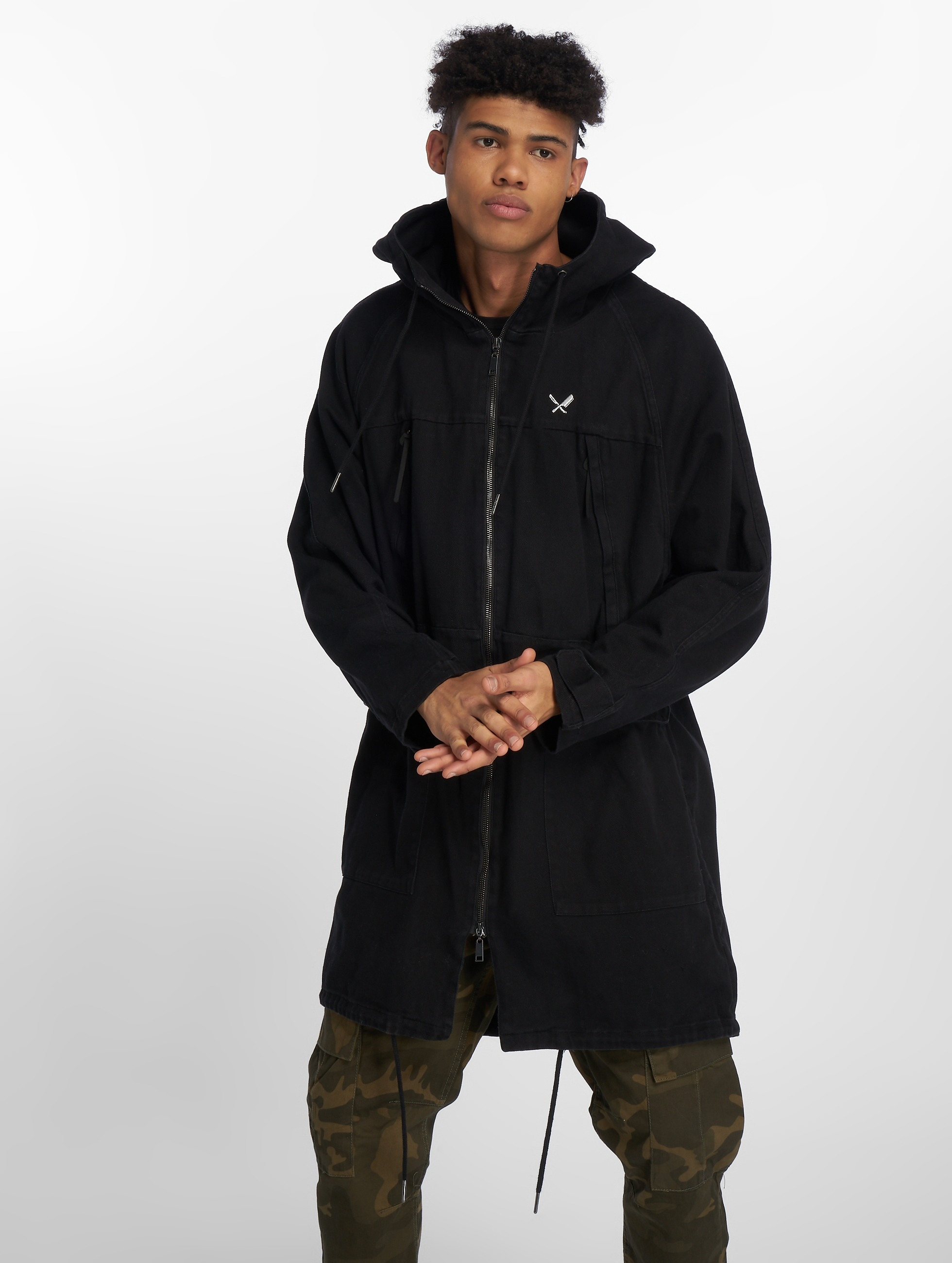 Distorted People | DNA Classic noir Homme Parka