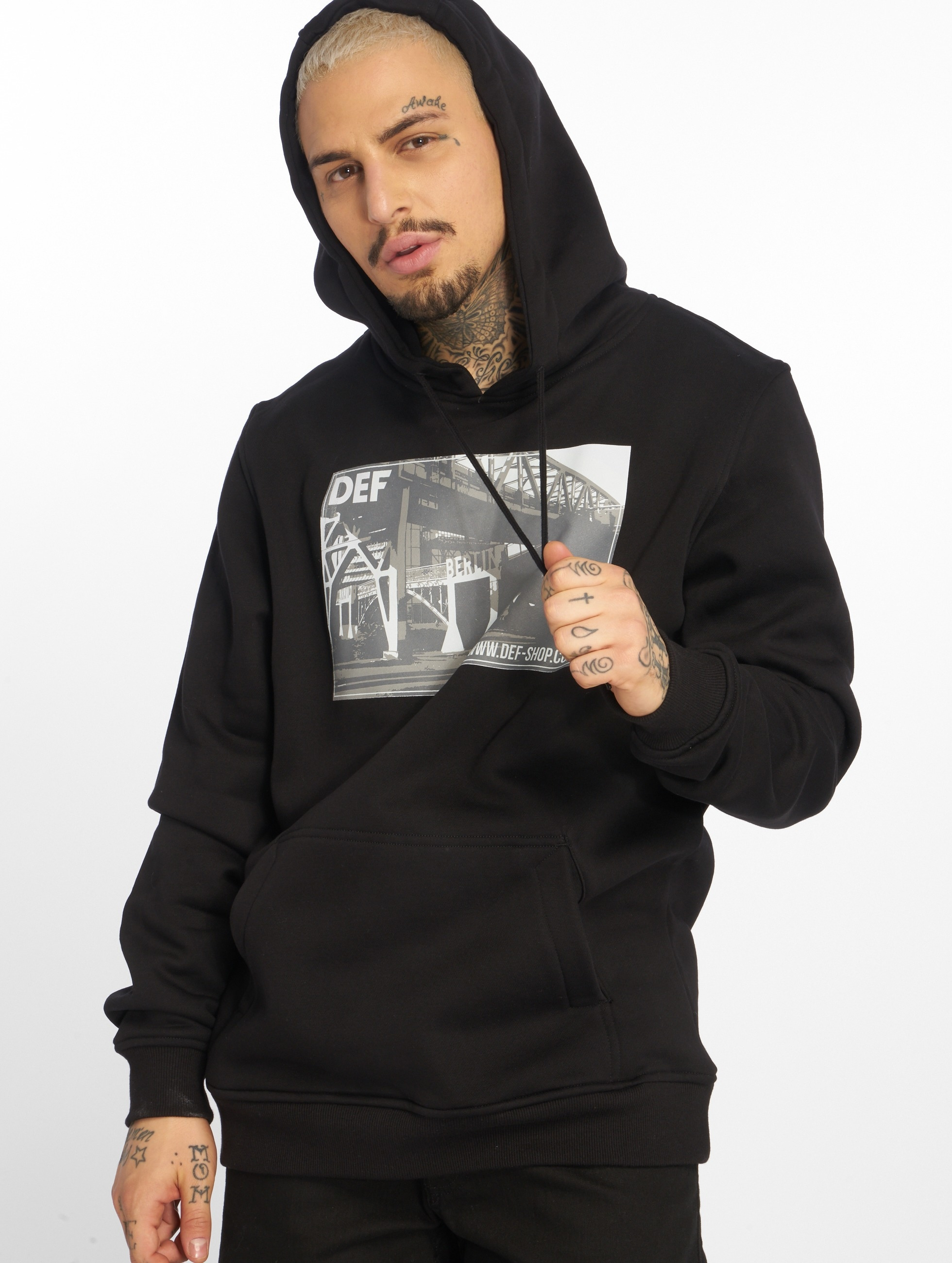 DEF MERCH | Merch noir Homme Sweat capuche