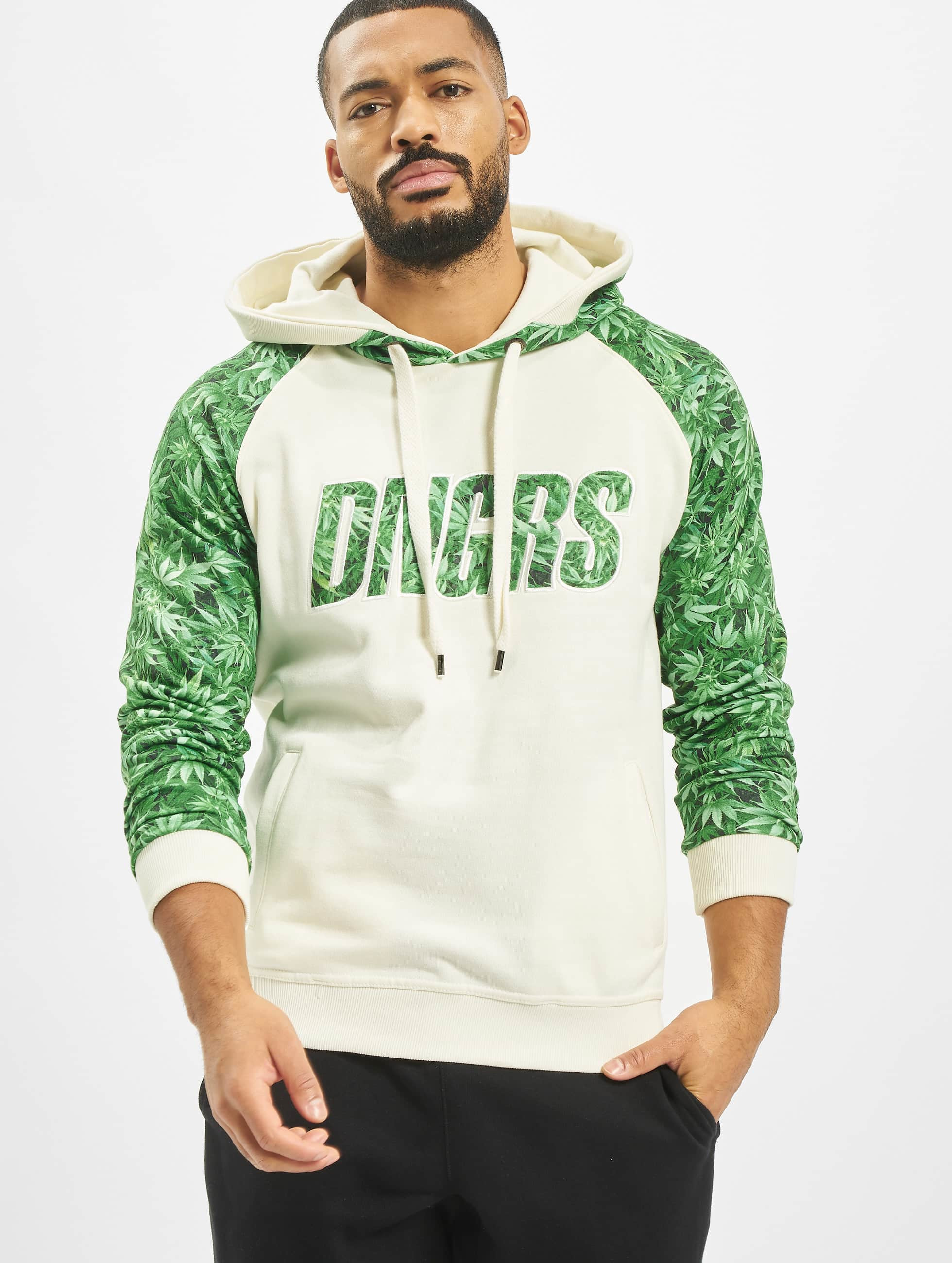 Dangerous DNGRS / Hoodie Greenline in white 4XL